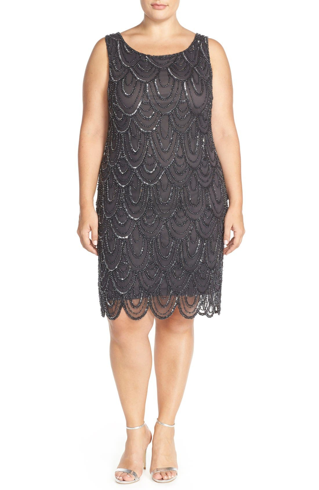 Beaded Sheath Dress,                             Alternate thumbnail 51, color,