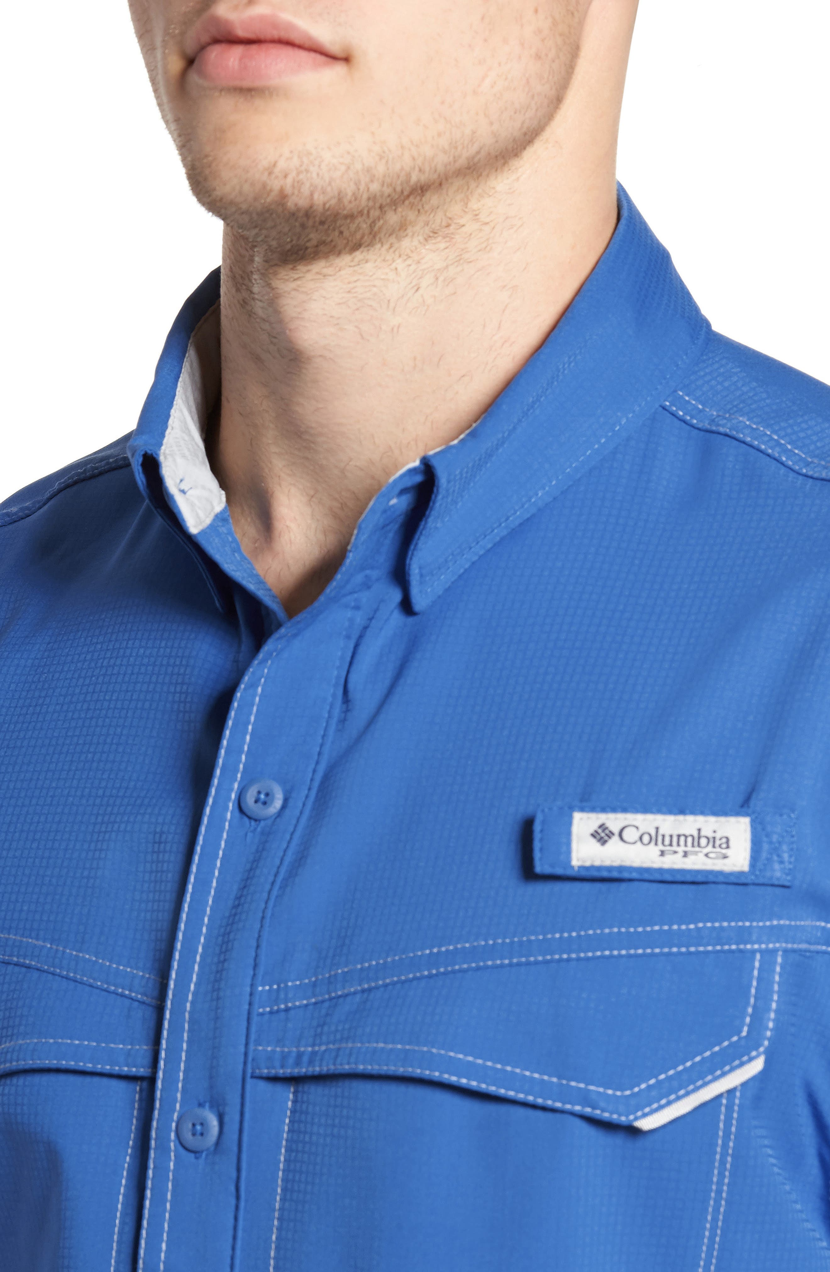 PFG Low Drag Offshore Woven Shirt,                             Alternate thumbnail 18, color,