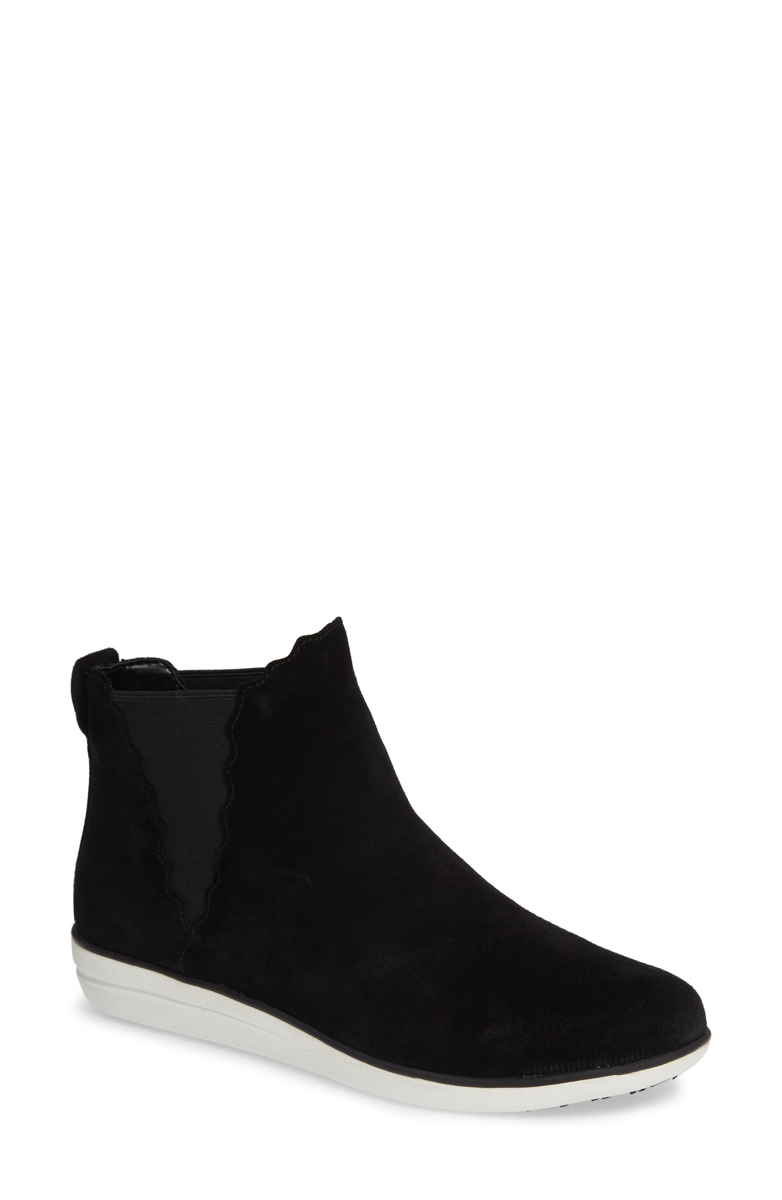 Aetrex Alanna Slip-On High Top Sneaker - Black