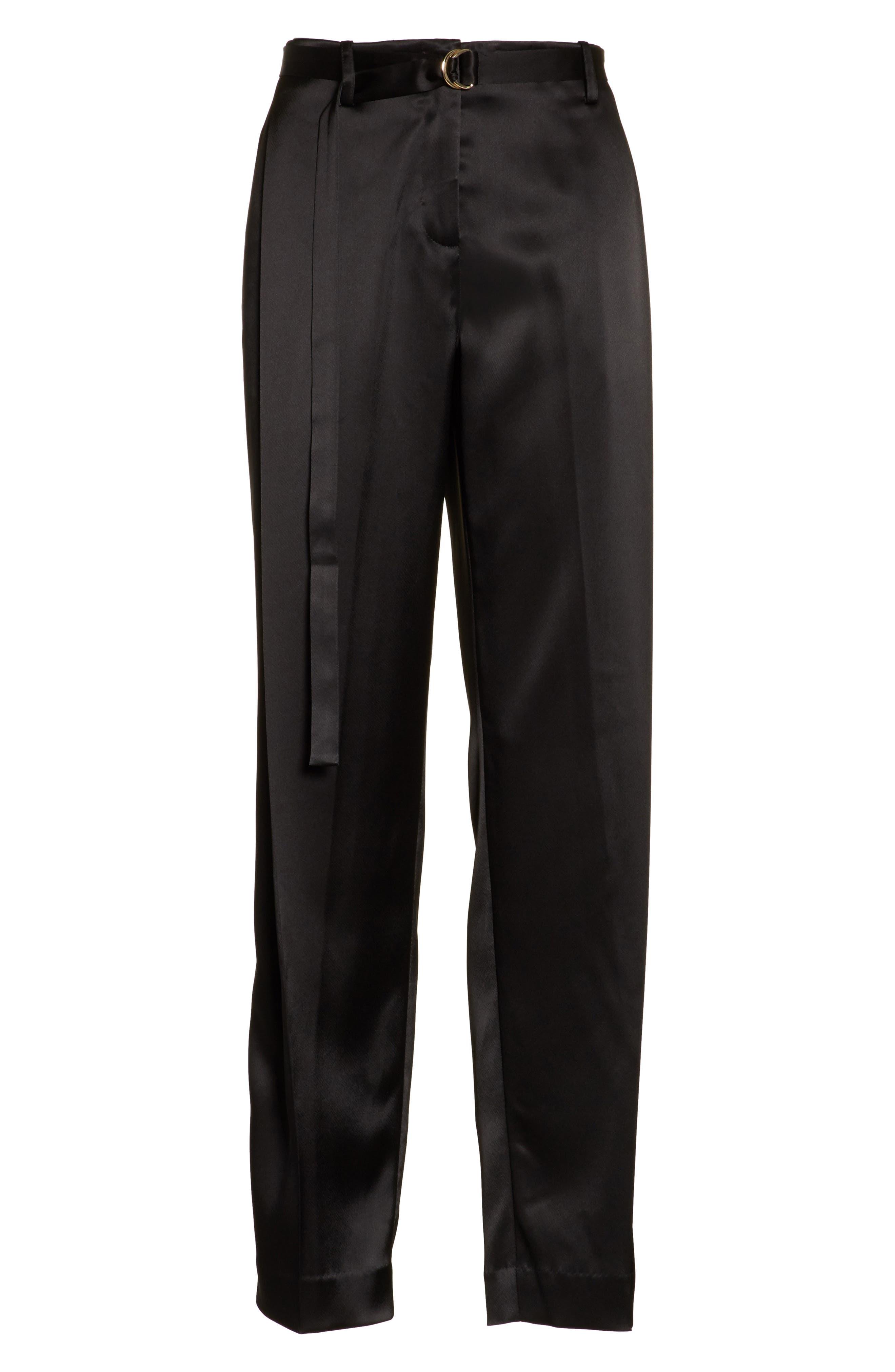 Nassau Reverie Satin Cloth Pants,                             Alternate thumbnail 6, color,                             001