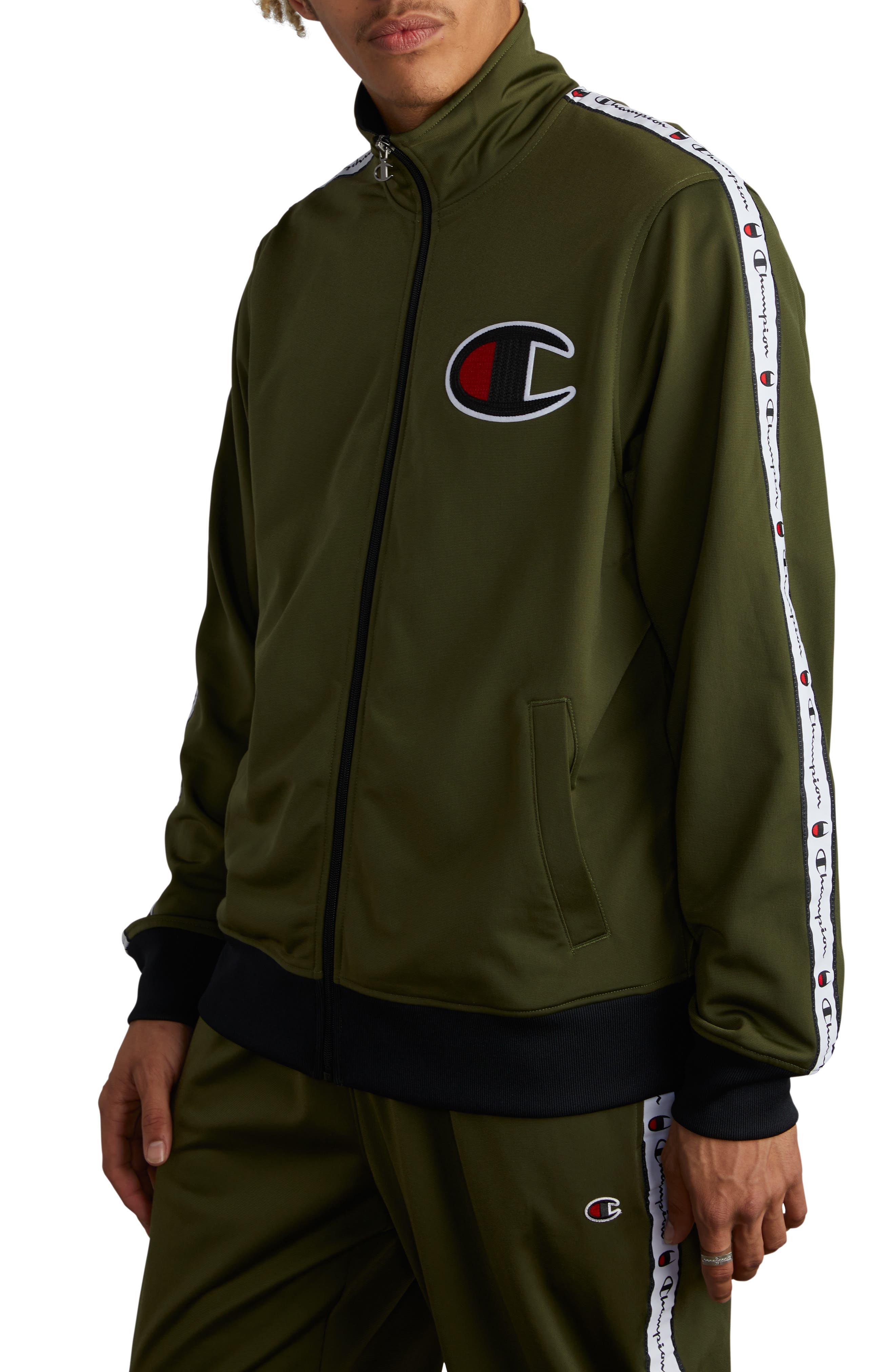 Track Jacket,                         Main,                         color, HIKER GREEN
