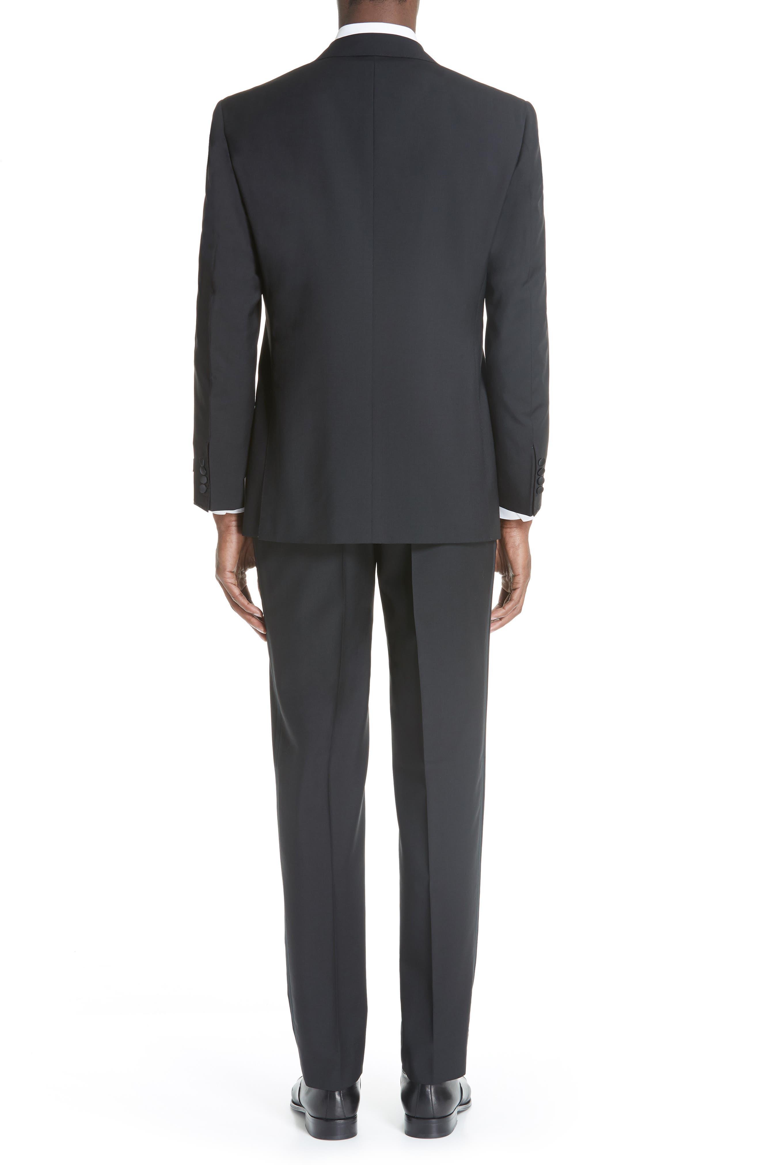 13000 Classic Fit Wool & Mohair Tuxedo,                             Alternate thumbnail 2, color,                             BLACK