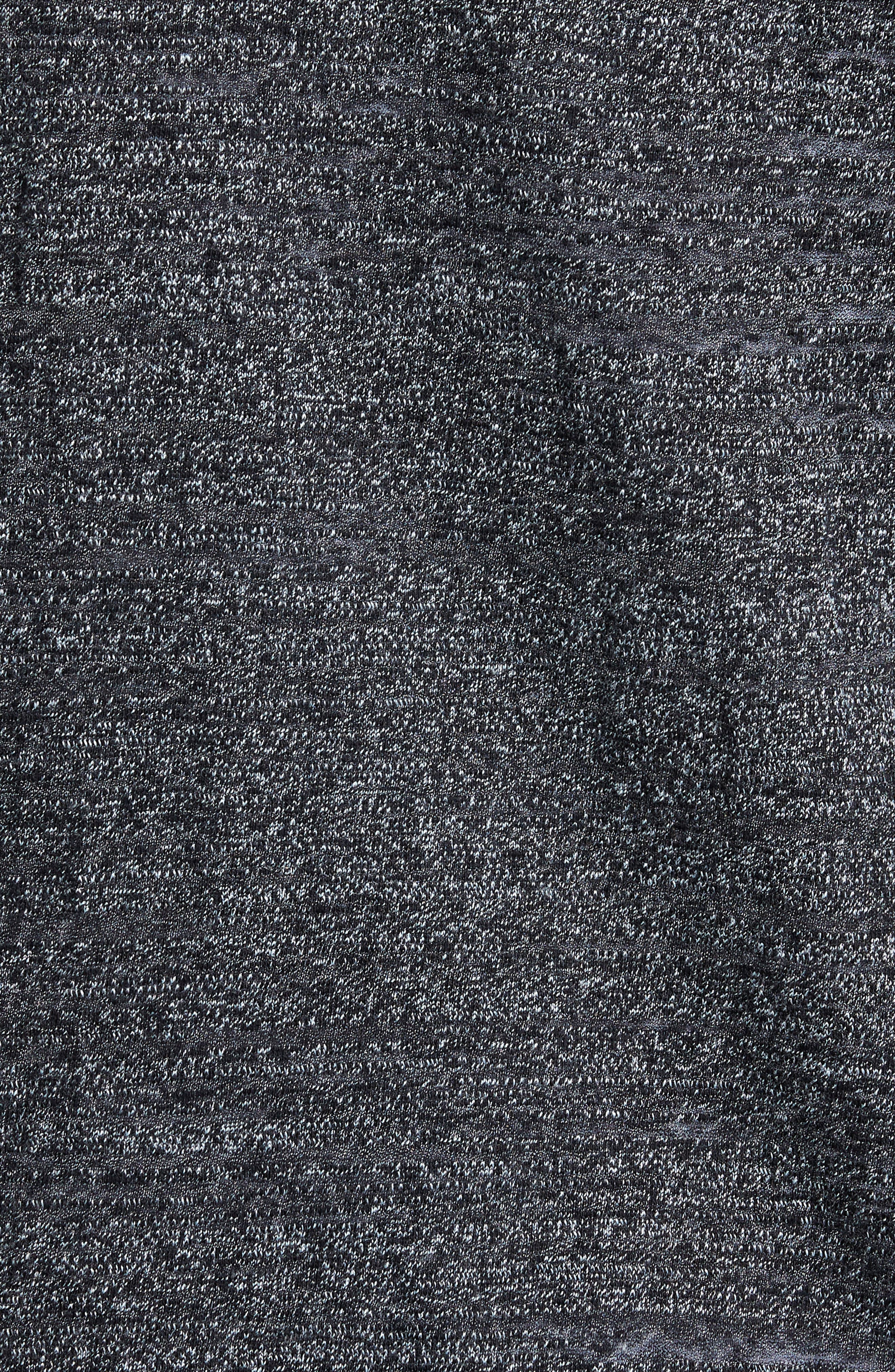 CALIBRATE,                             Textured Zip Fleece Sweatshirt,                             Alternate thumbnail 5, color,                             001