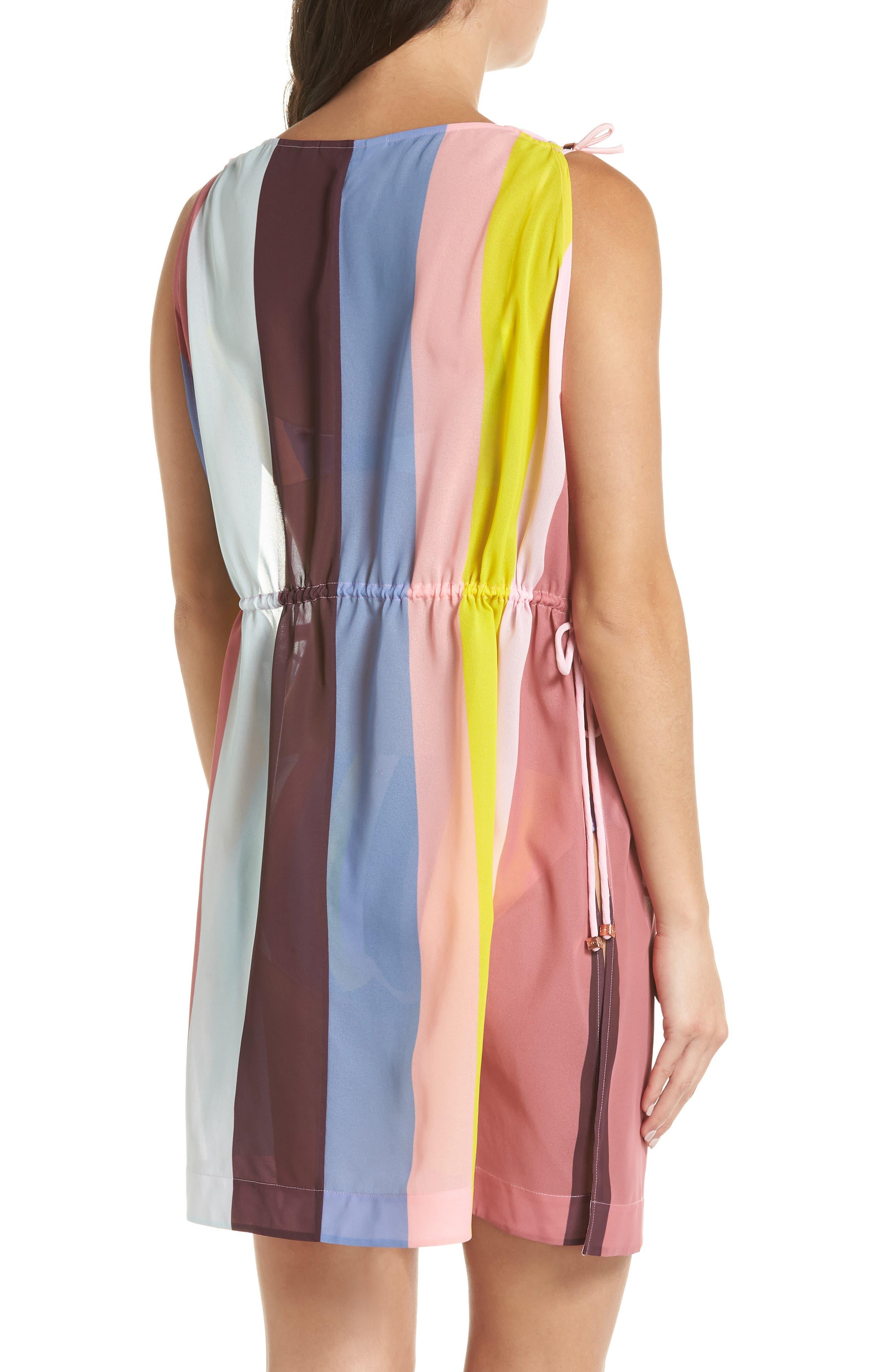 Penaree Rio Stripe Tabbard Cover-Up,                             Alternate thumbnail 2, color,                             LIGHT PINK