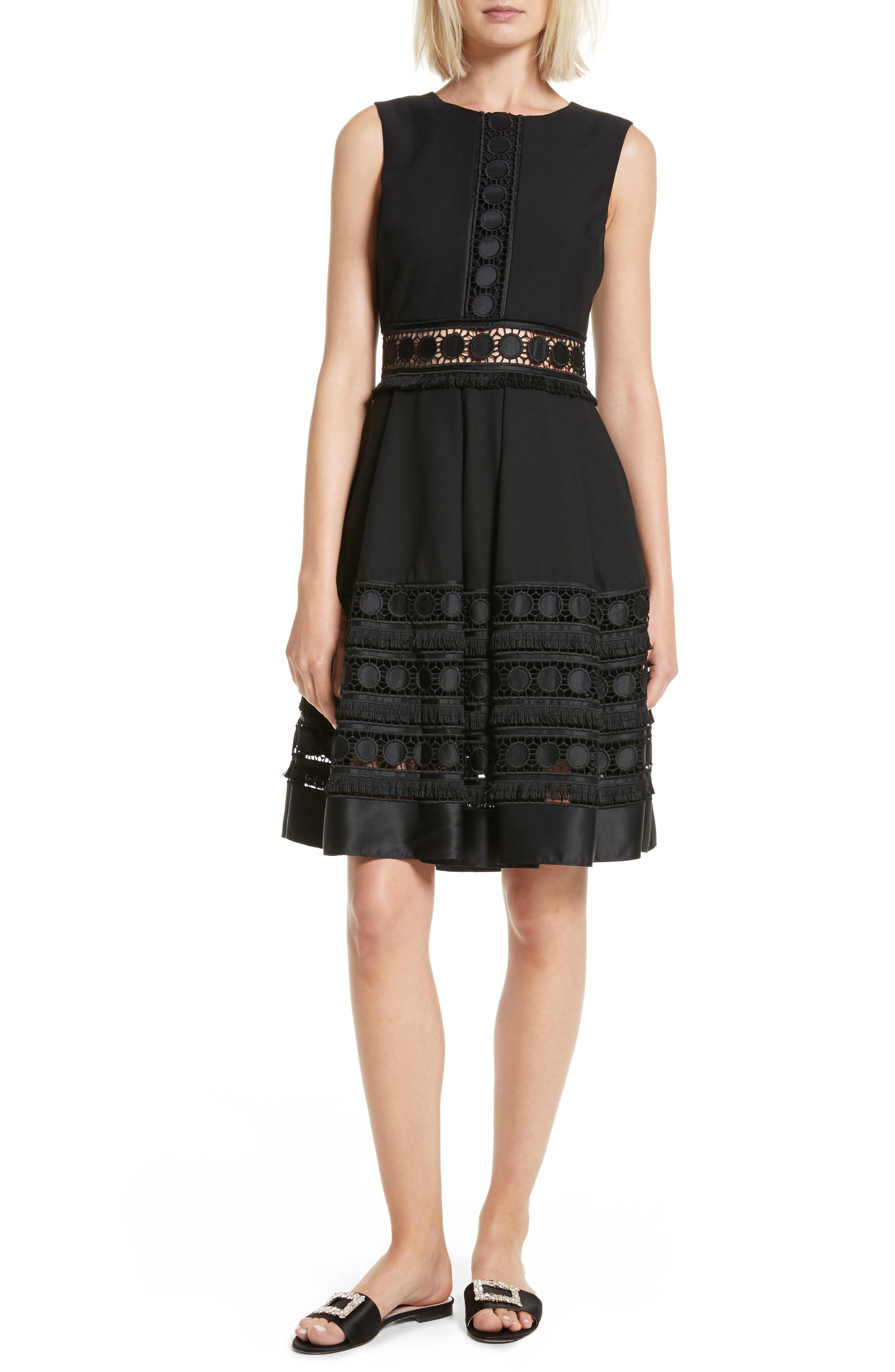 Olym Contrast Trim Dress,                             Main thumbnail 1, color,                             001