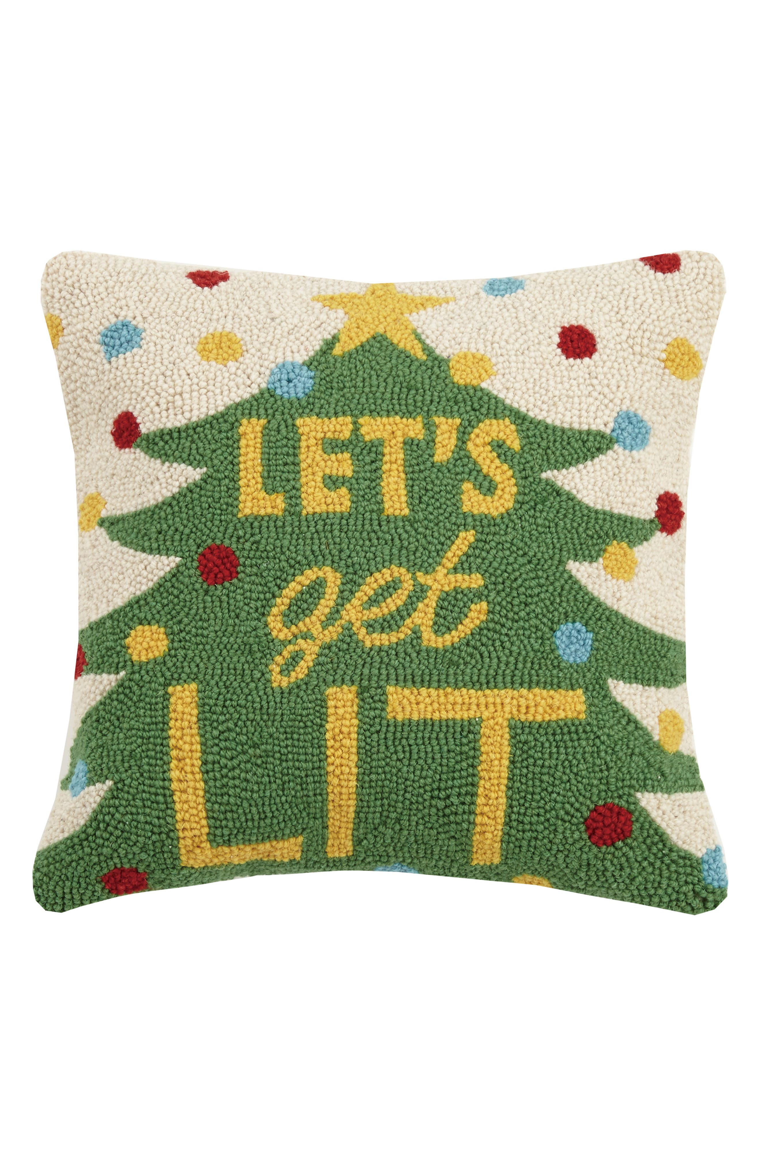 Let's Get Lit Hooked Pillow,                         Main,                         color, 300