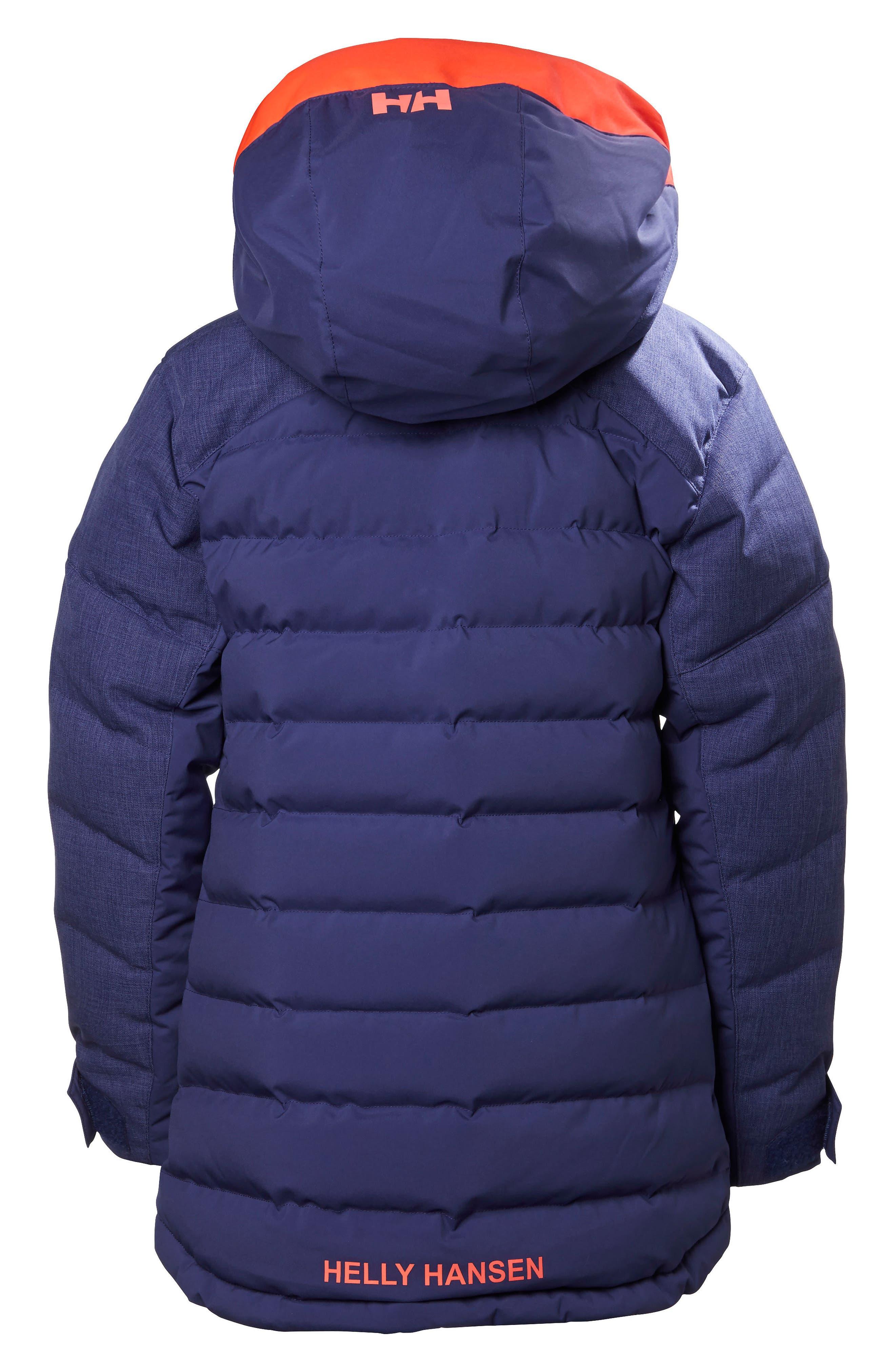 Jr. Leah Waterproof & Windproof 480-Fill Power Down Jacket,                         Main,                         color, 548