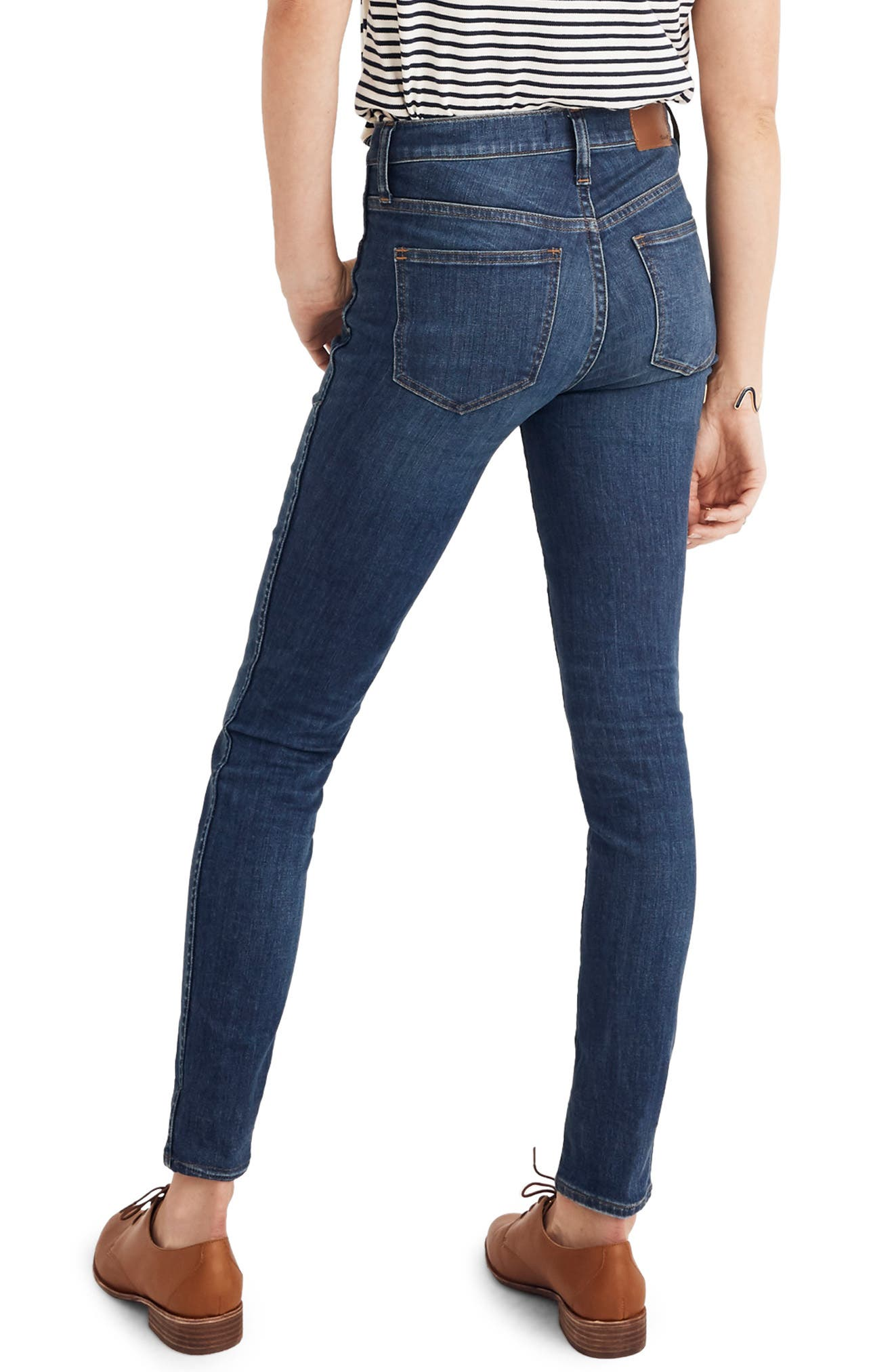Eco Collection High Rise Skinny Jeans,                             Alternate thumbnail 3, color,                             ELINOR