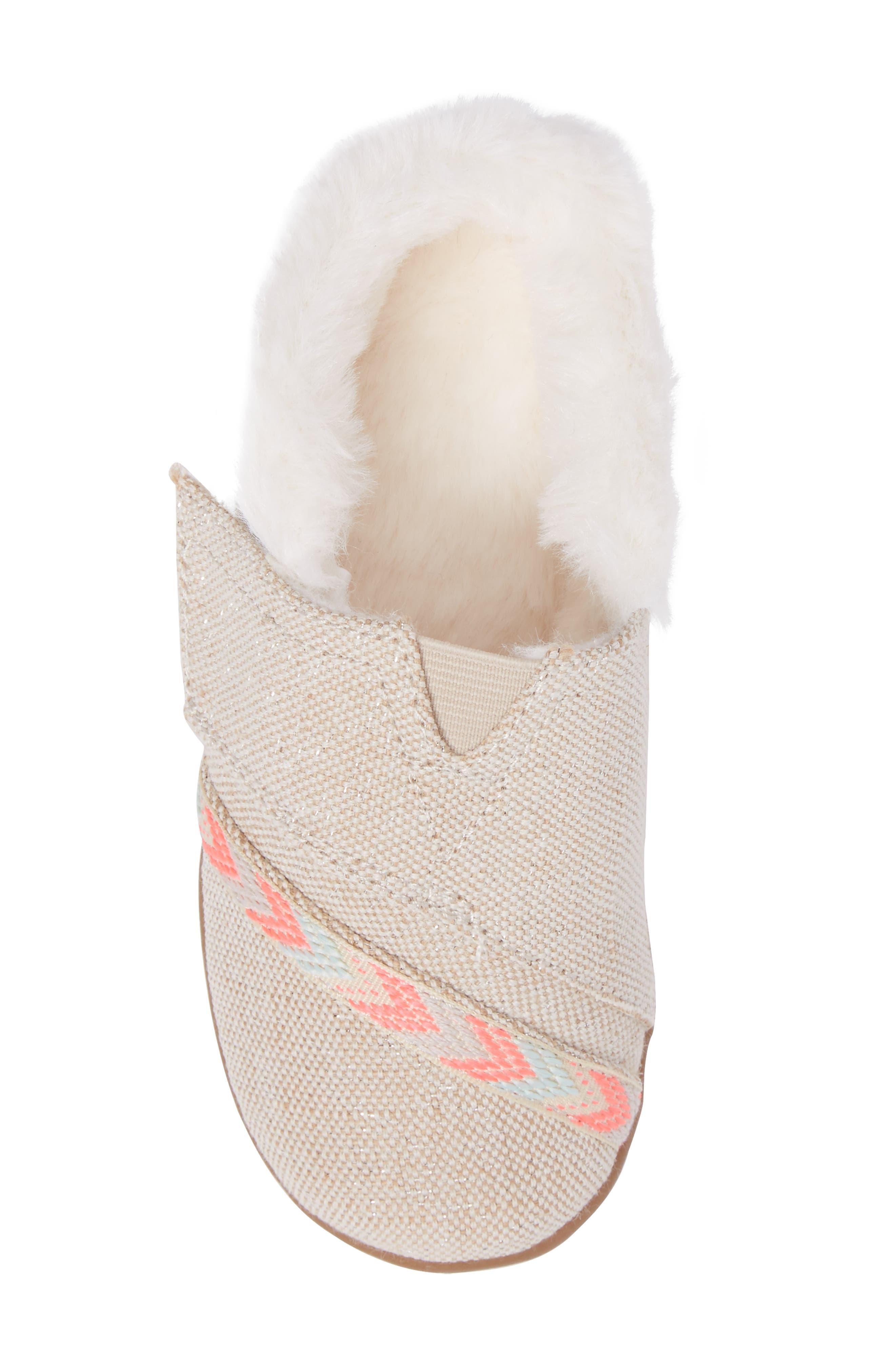 Tiny Faux Fur House Slipper,                             Alternate thumbnail 5, color,                             251