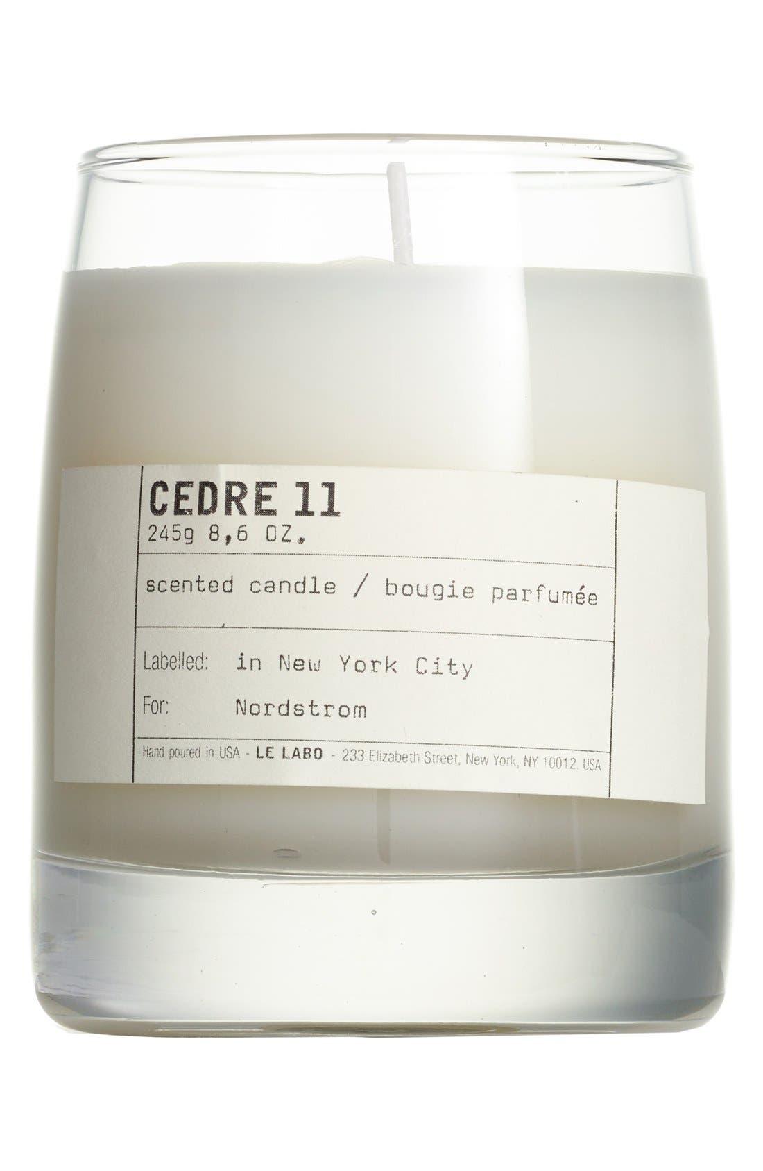 'Cedre 11' Classic Candle,                             Main thumbnail 1, color,                             000
