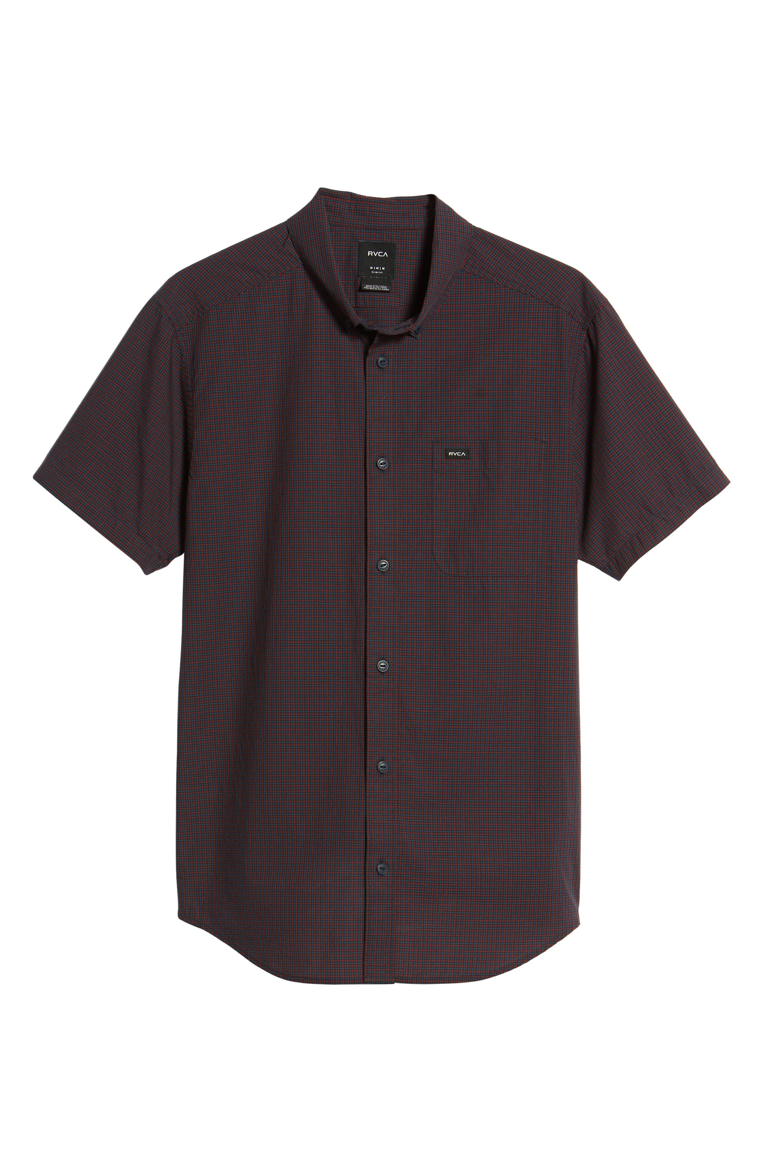 Staple Woven Shirt,                             Alternate thumbnail 6, color,                             NEW NAVY