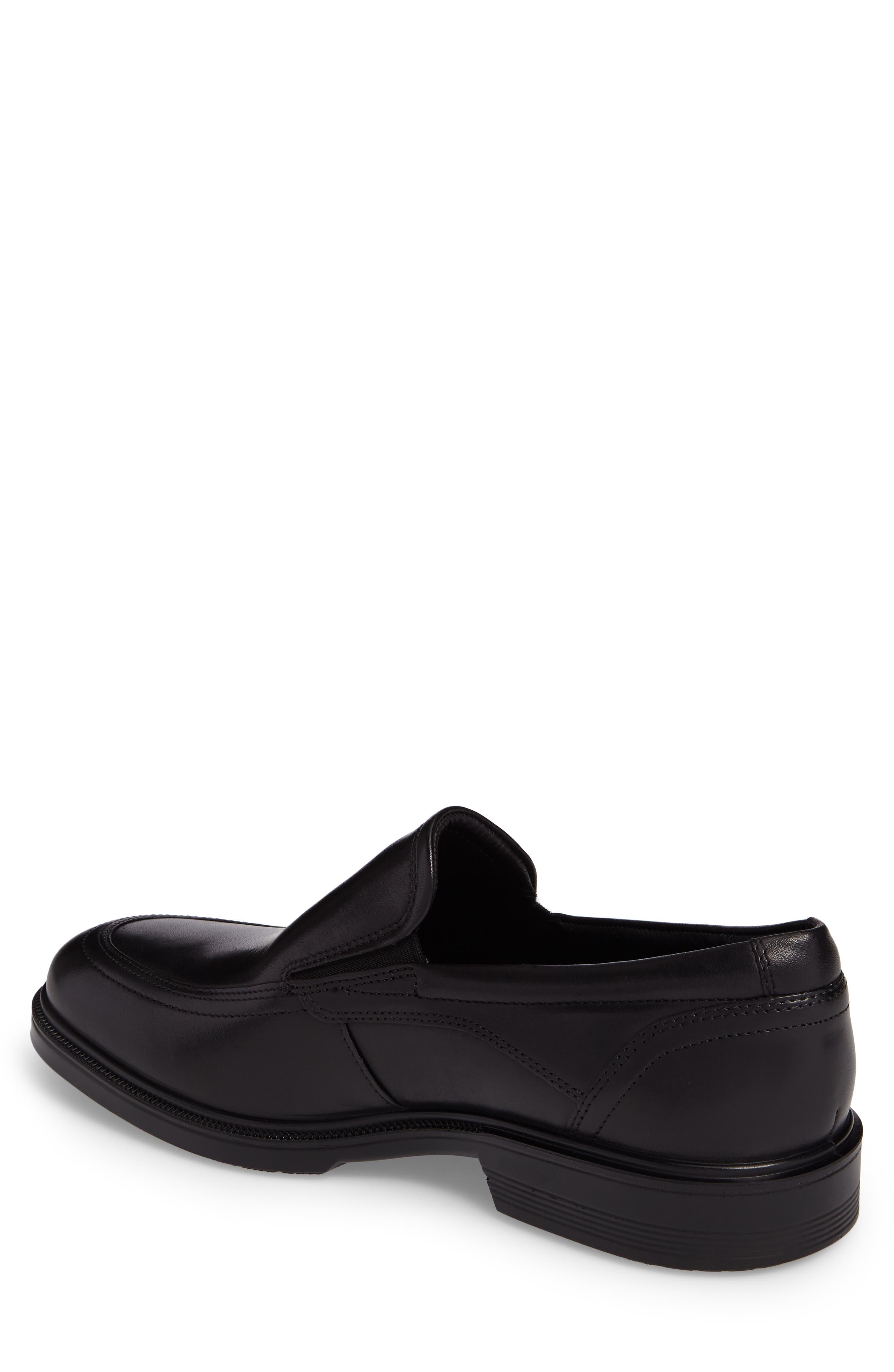 Lisbon Loafer,                             Alternate thumbnail 2, color,                             BLACK LEATHER