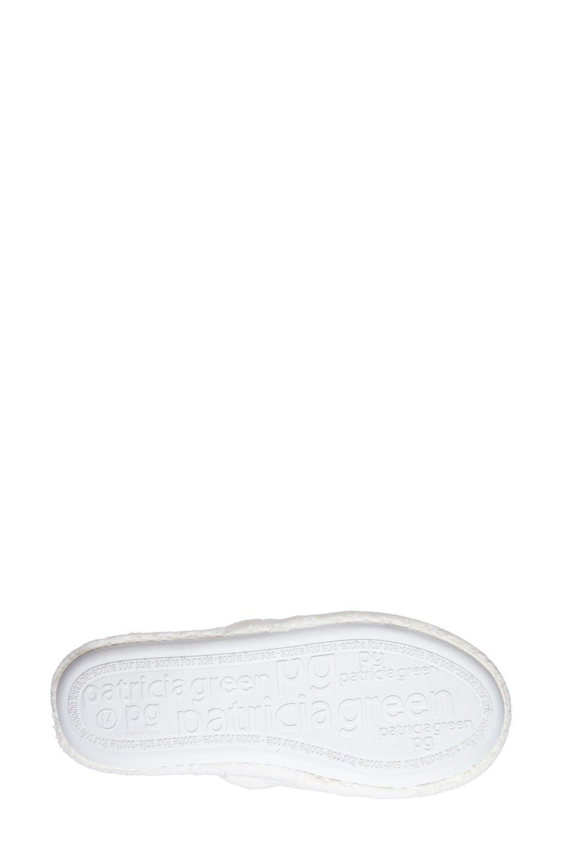 'Bonnie' Bow Slipper,                             Alternate thumbnail 4, color,                             WHITE