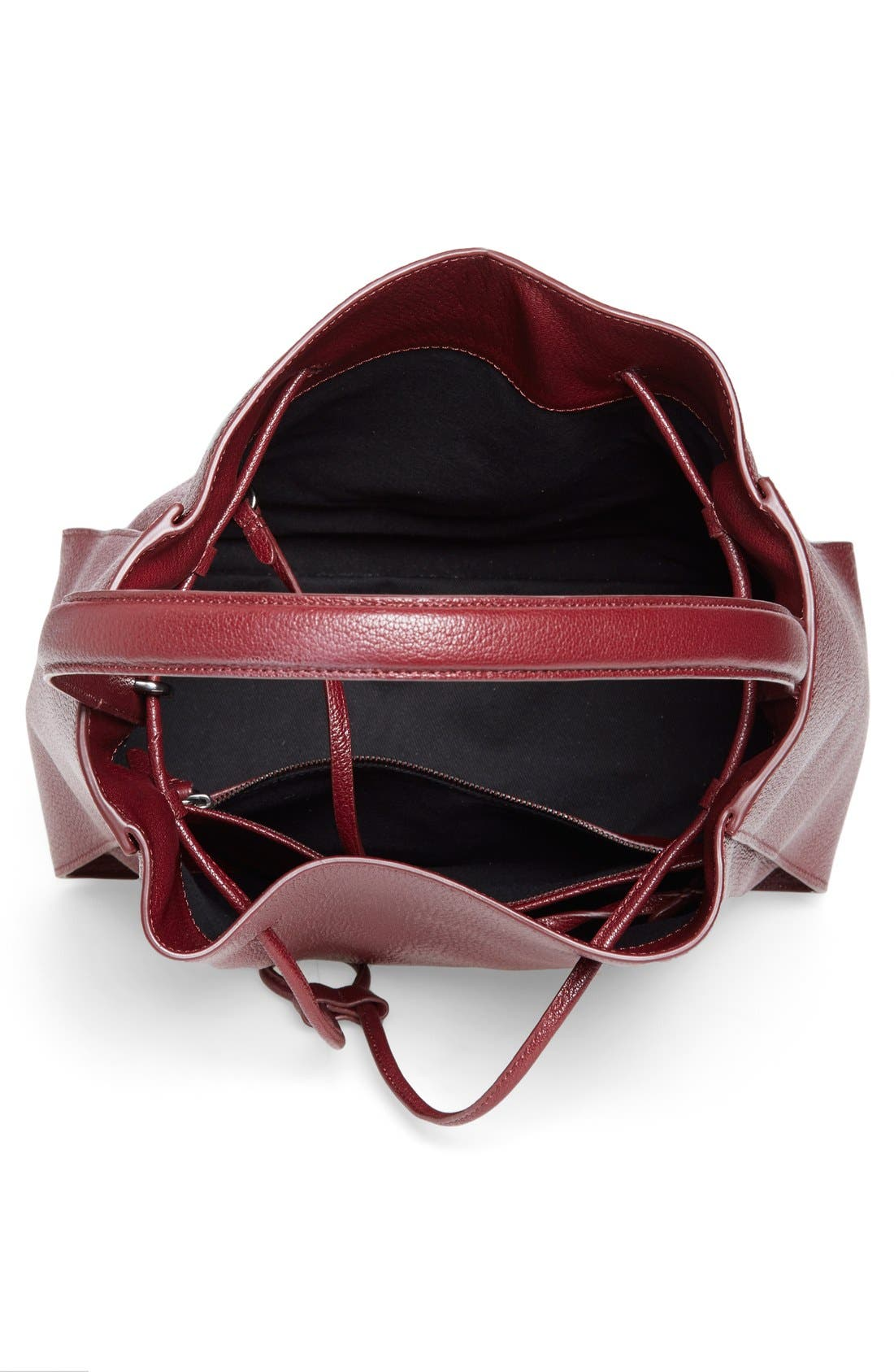 'Large Soleil' Leather Bucket Bag,                             Alternate thumbnail 12, color,