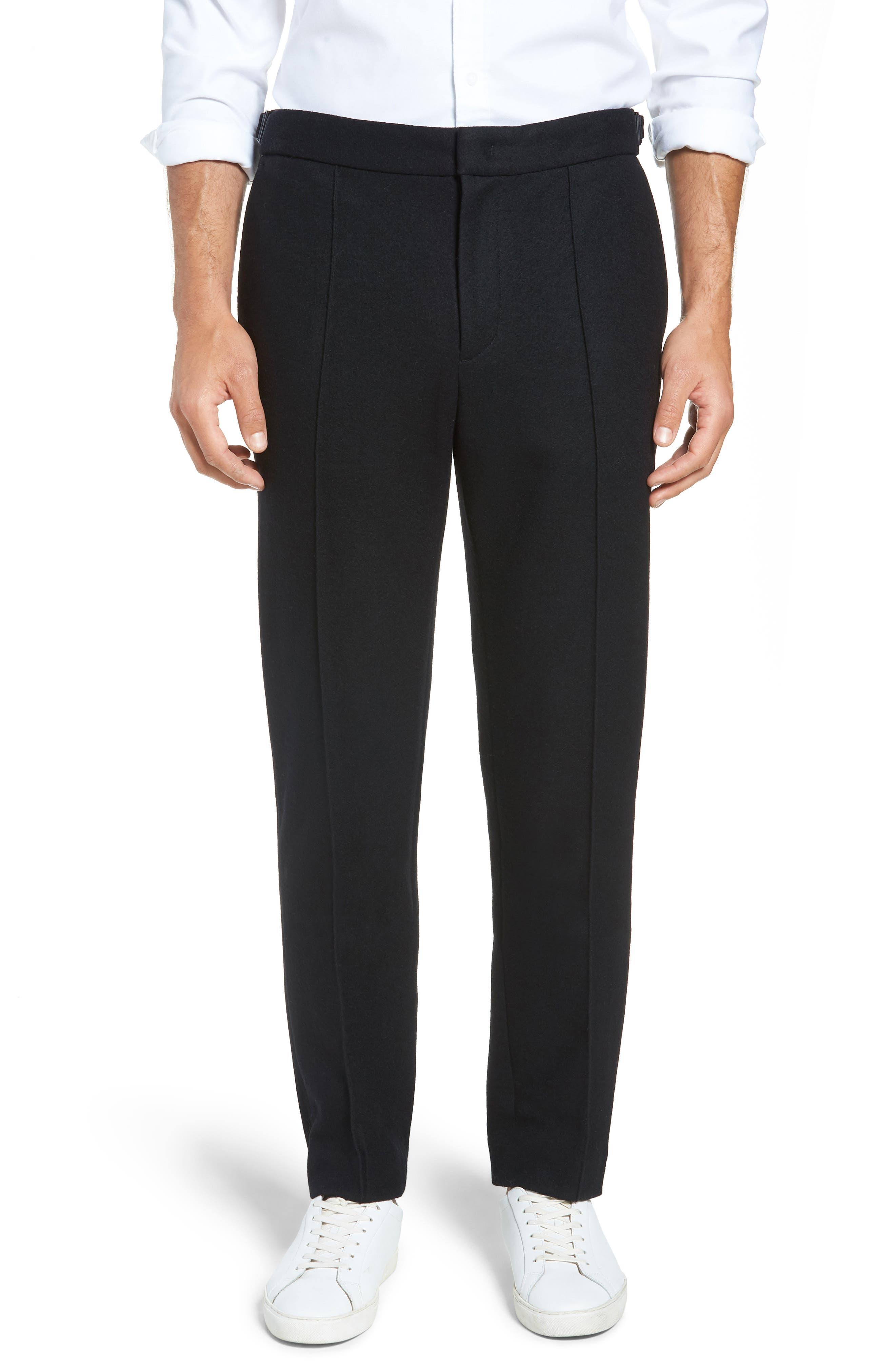 Sector Slim Fit Wool Jersey Pants,                         Main,                         color, BLACK