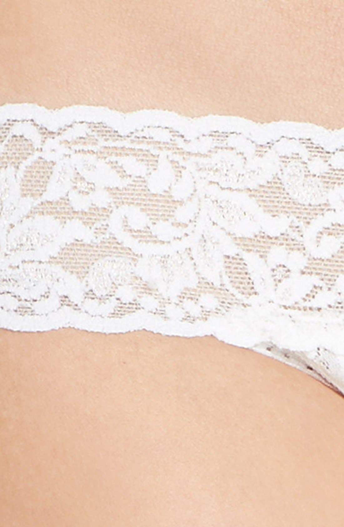 'Pearl' Low Rise Thong,                             Alternate thumbnail 3, color,                             LIGHT IVORY