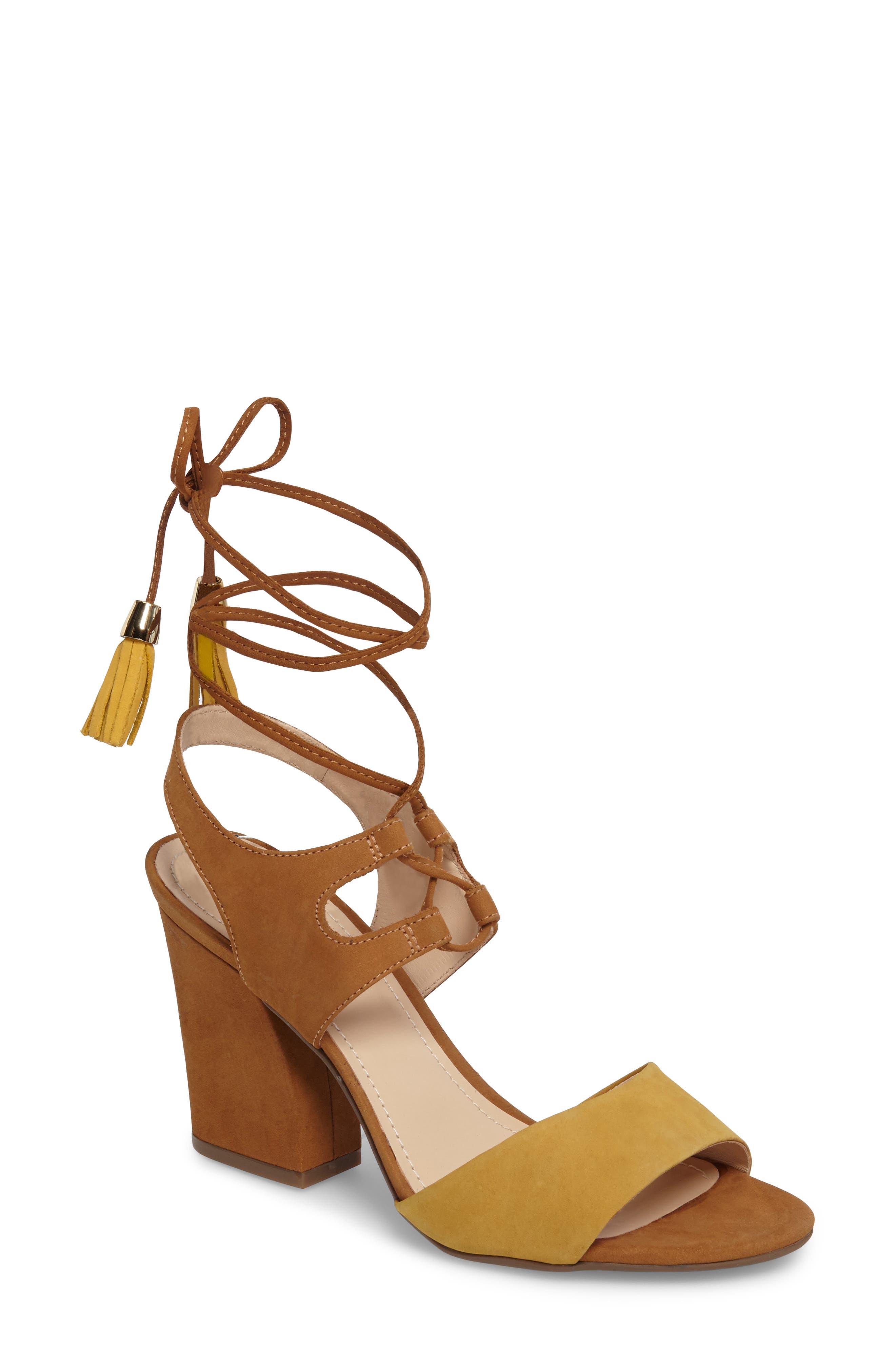 Klub Nico Kaira Ankle Wrap Sandal, Yellow