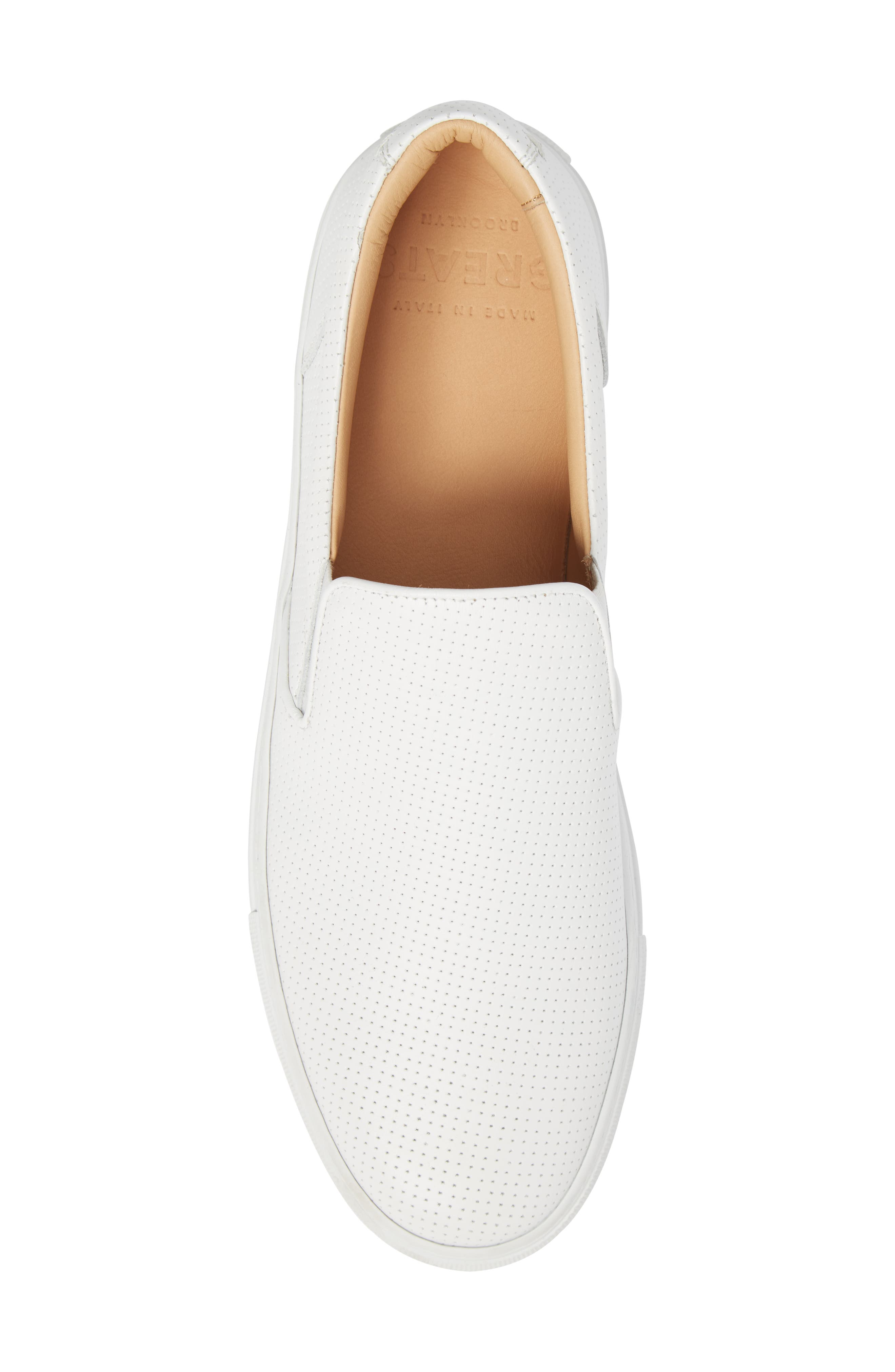 Wooster Slip-On Sneaker,                             Alternate thumbnail 5, color,                             WHITE PERFORATED LEATHER