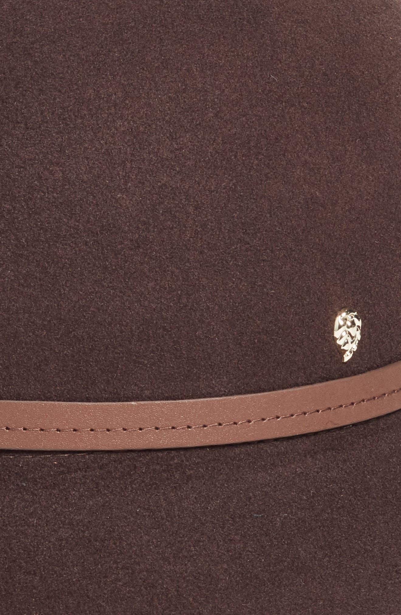 Angled Brim Wool Felt Hat,                             Alternate thumbnail 3, color,                             200