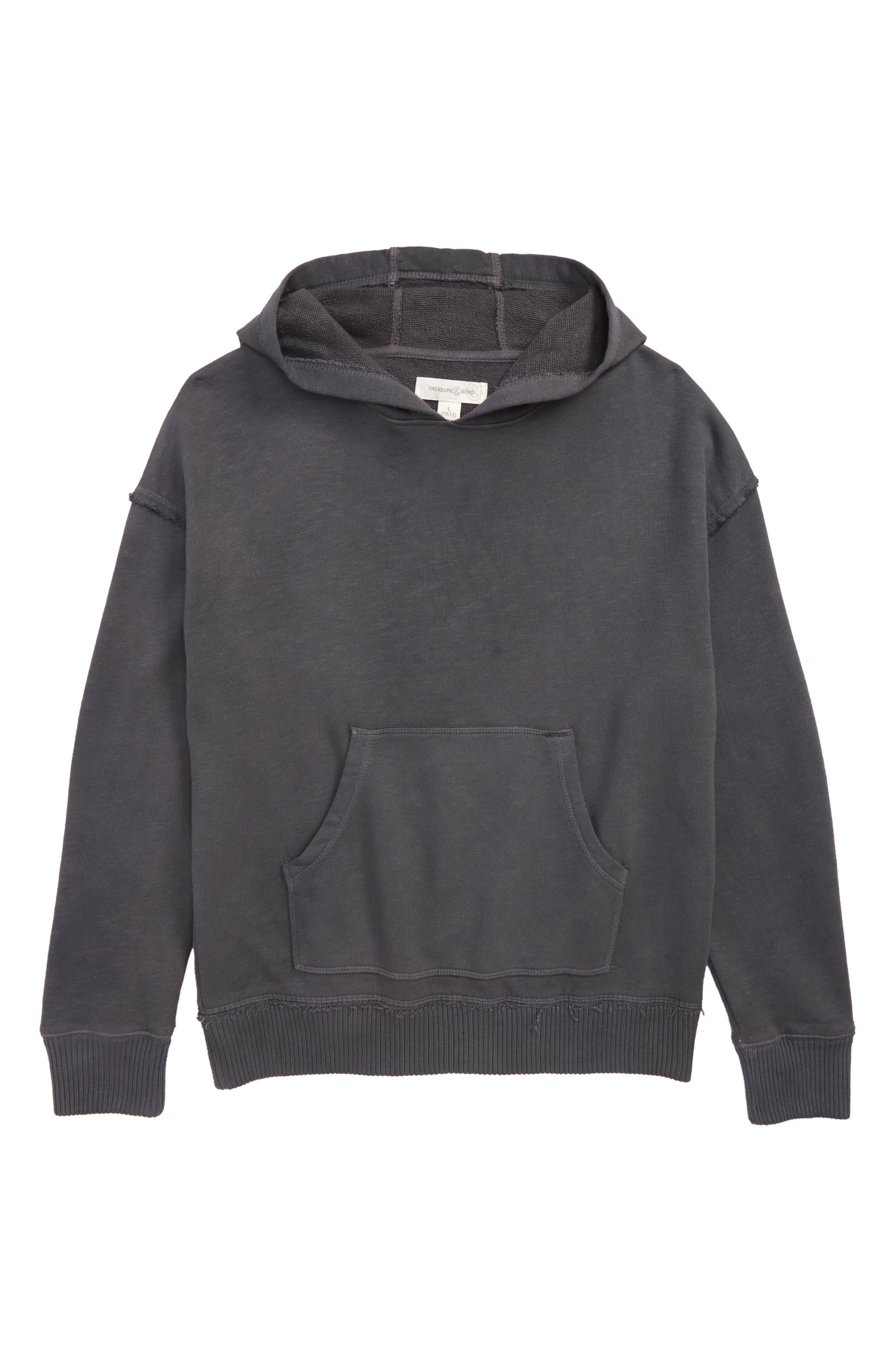 Hooded Sweatshirt,                         Main,                         color, GREY ONYX WASH