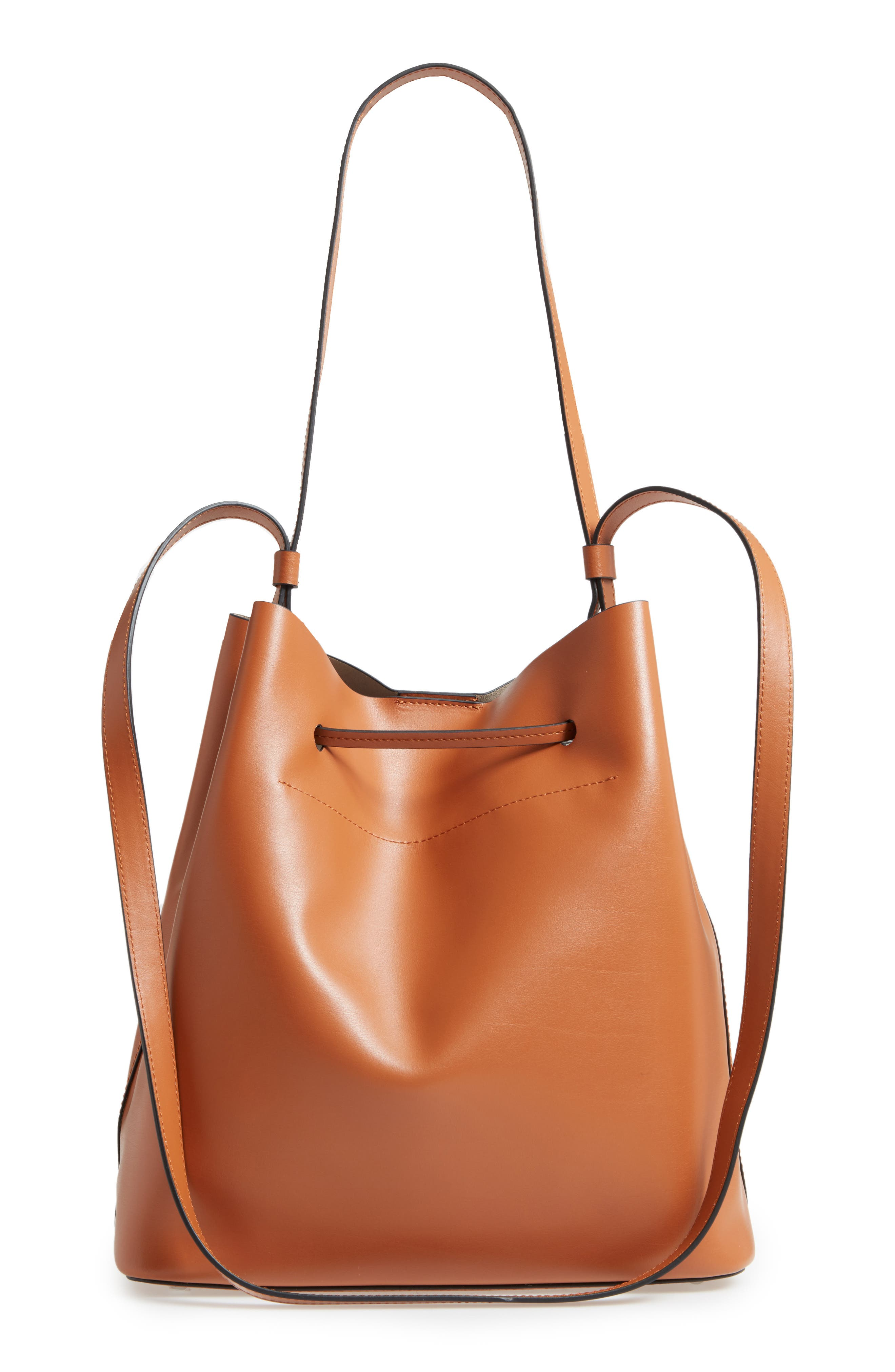 Silicon Valley Large Halina Leather Bucket Bag,                             Alternate thumbnail 8, color,