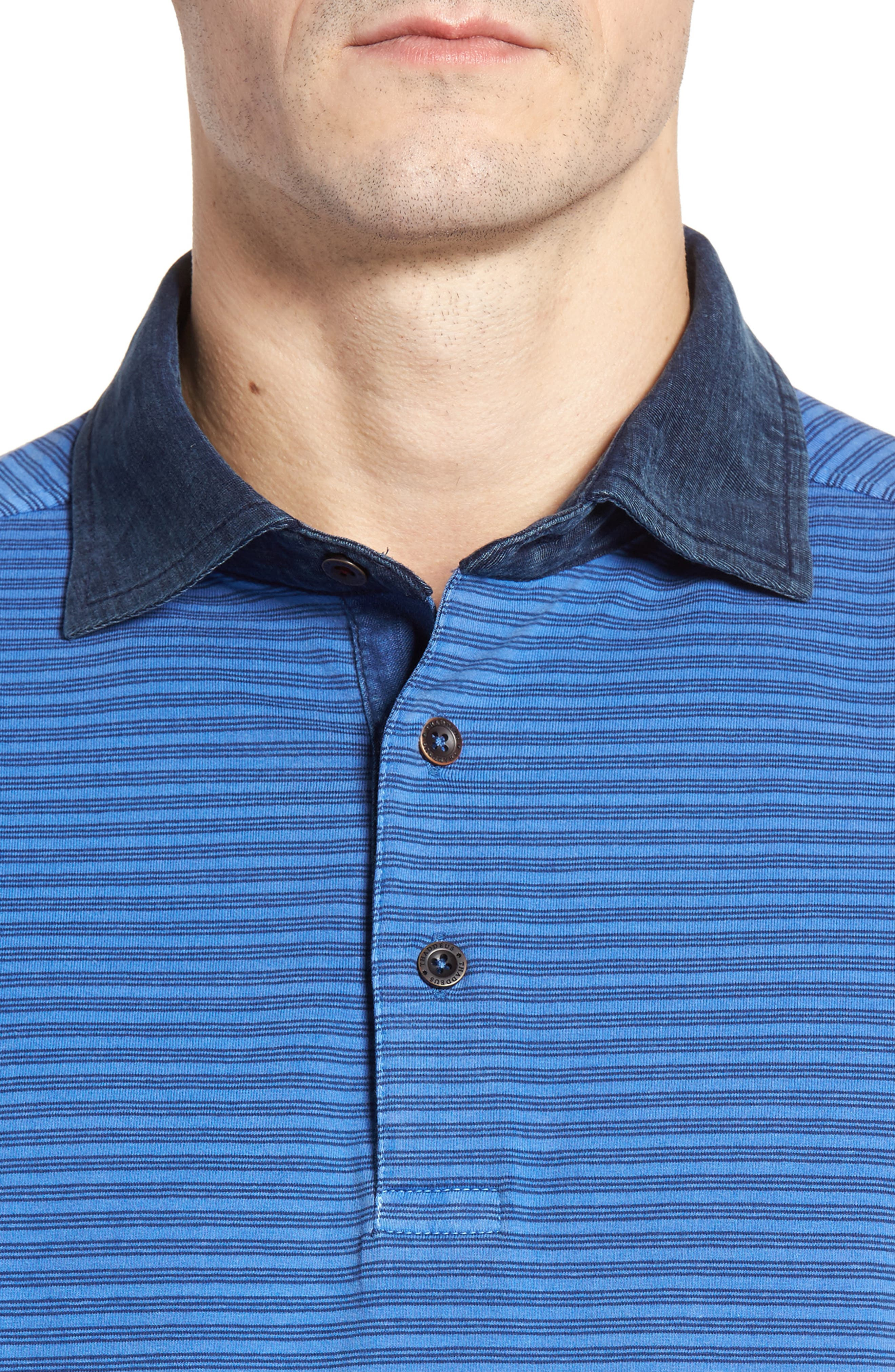 Ivan Stripe Stretch Jersey Polo,                             Alternate thumbnail 4, color,                             436