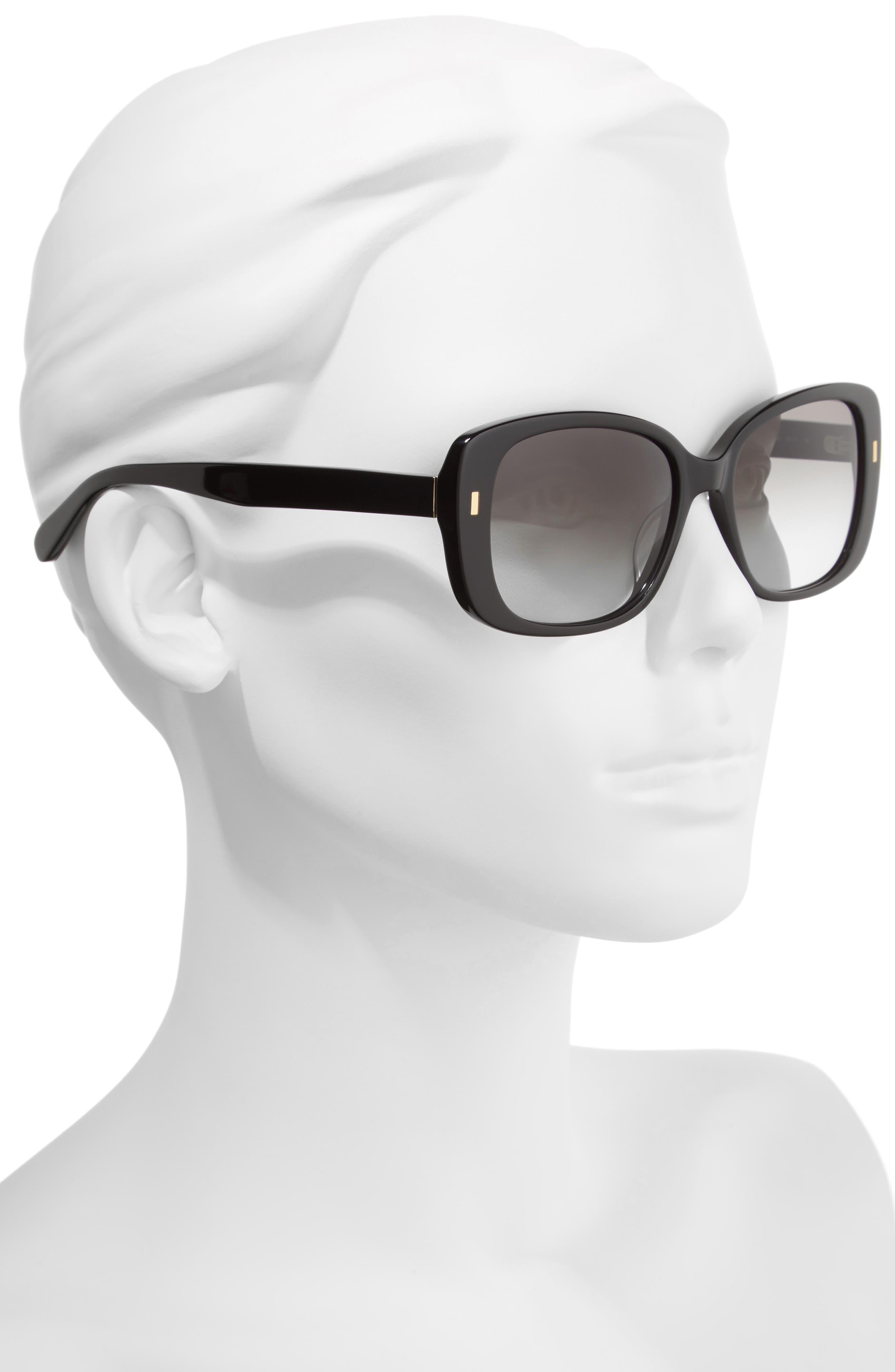 The Audrey 53mm Square Sunglasses,                             Alternate thumbnail 5, color,