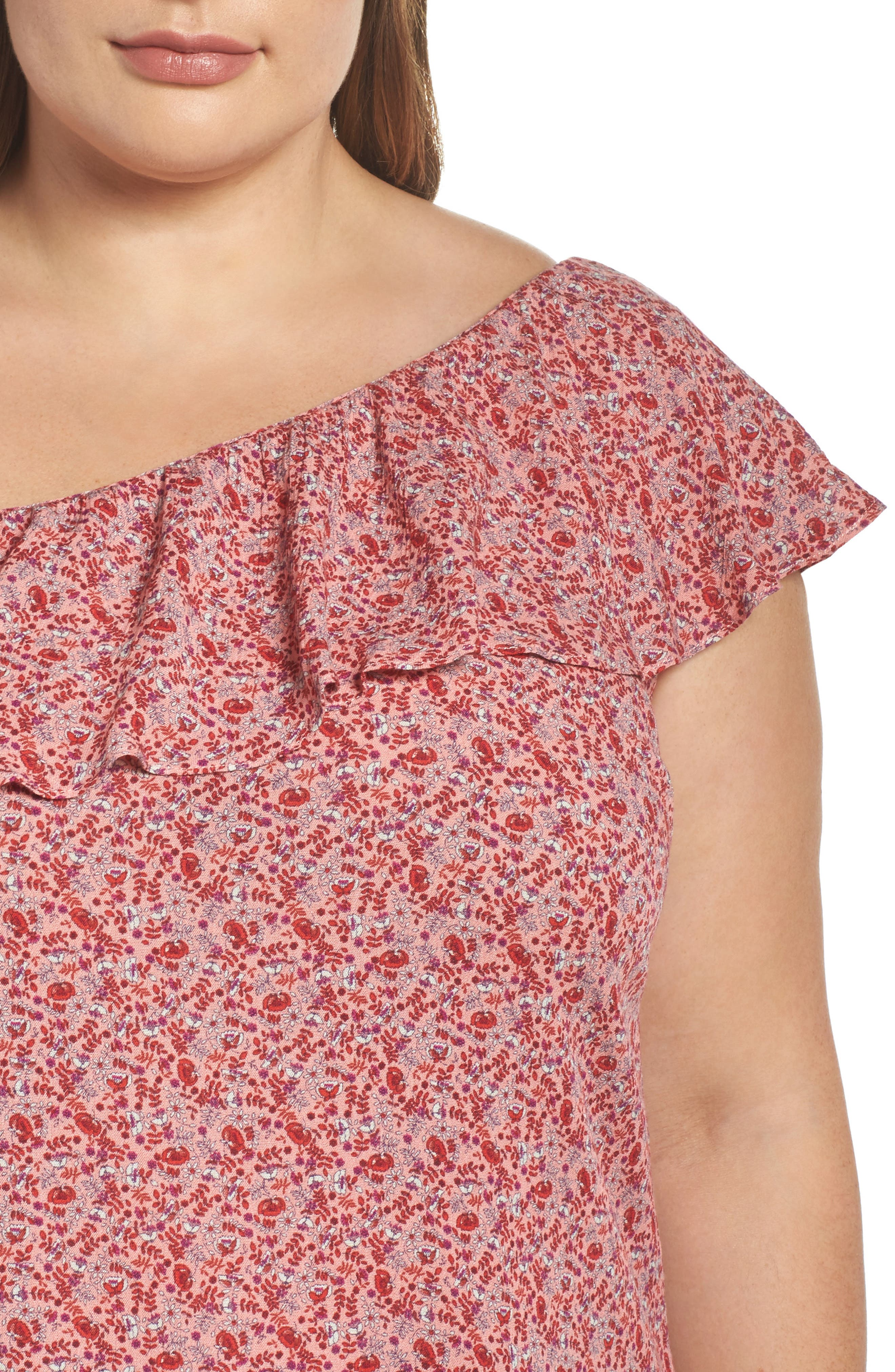 Baby Blossom One-Shoulder Blouse,                             Alternate thumbnail 4, color,                             616