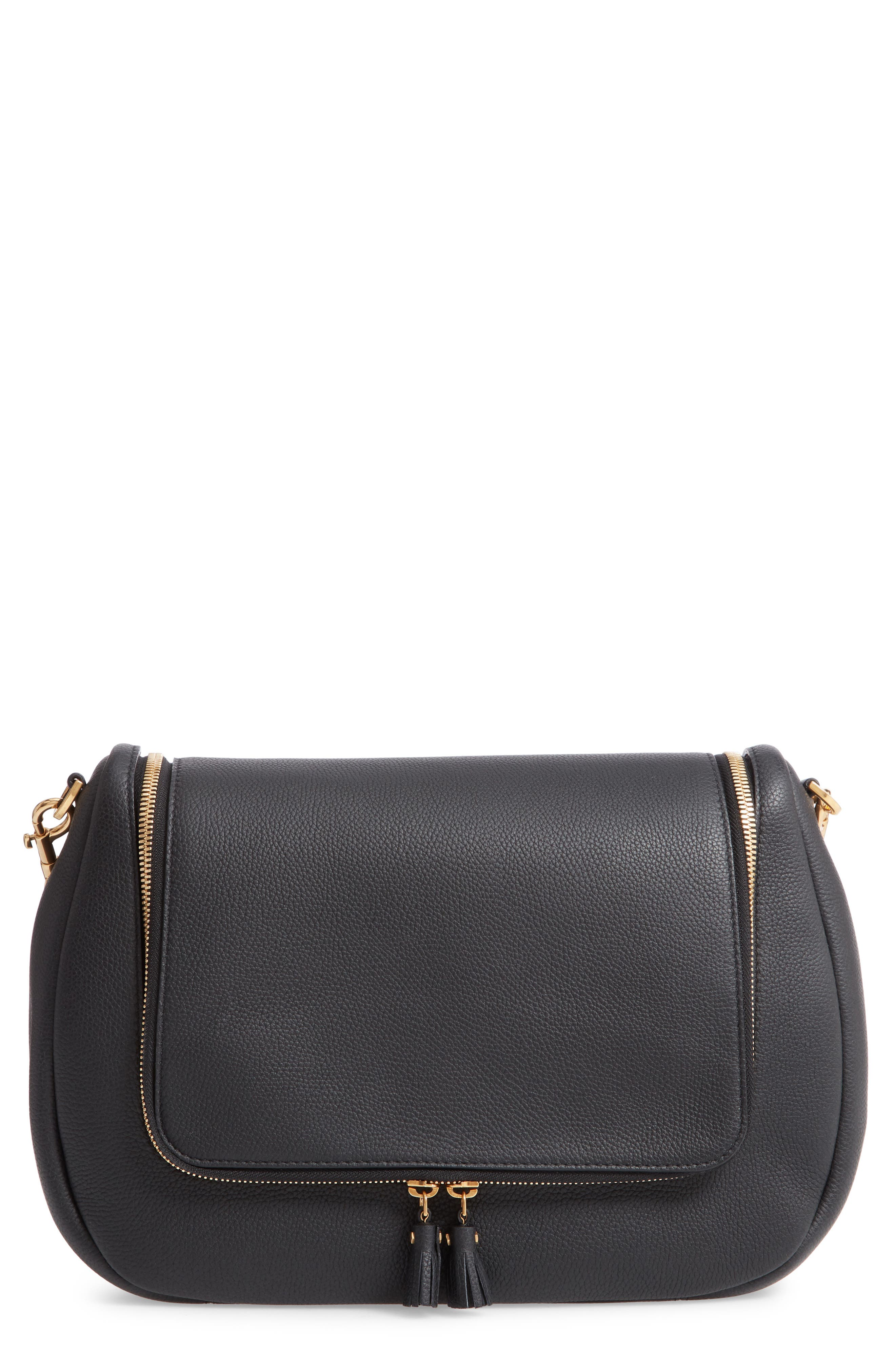 Maxi Vere Soft Satchel Shoulder Bag,                             Main thumbnail 1, color,                             BLACK