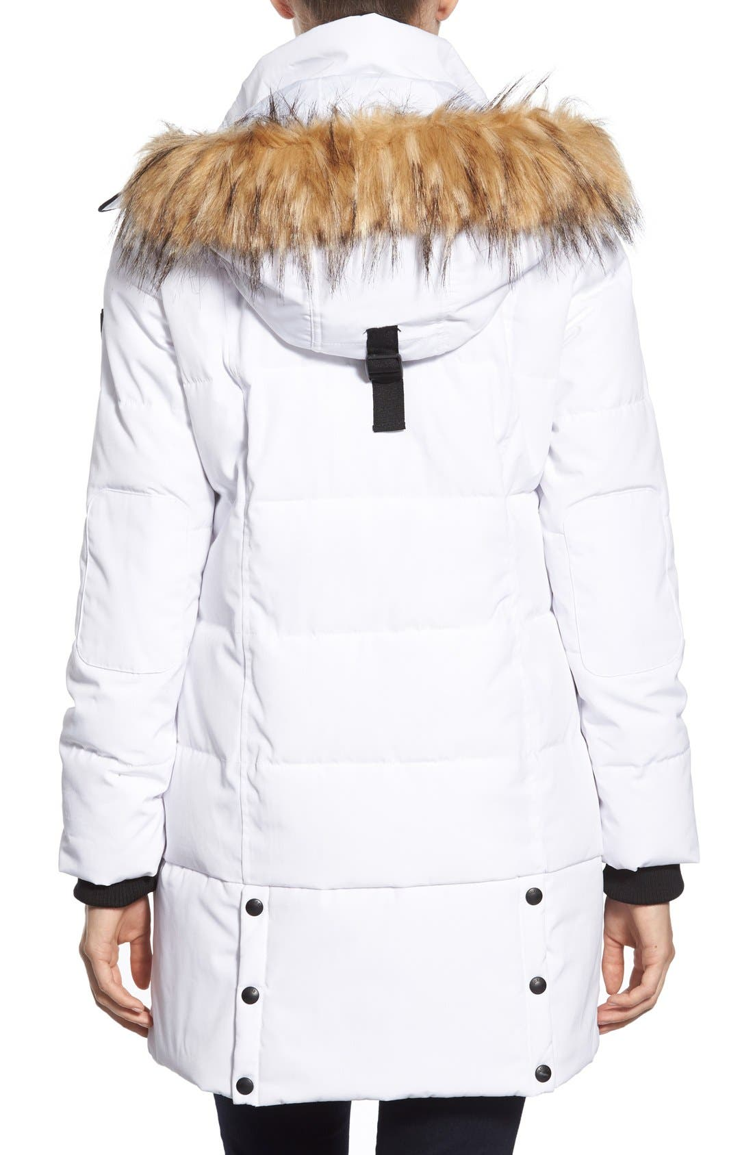 'Expedition' Quilted Parka with Faux Fur Trim,                             Alternate thumbnail 14, color,