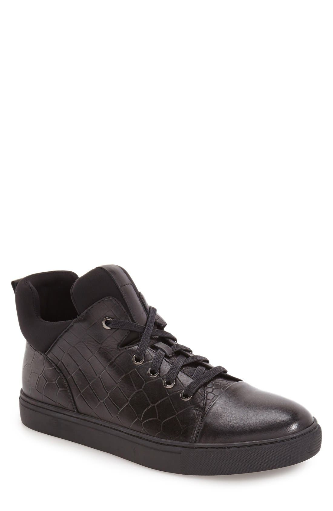 'Remix' High Top Sneaker,                             Main thumbnail 1, color,                             001