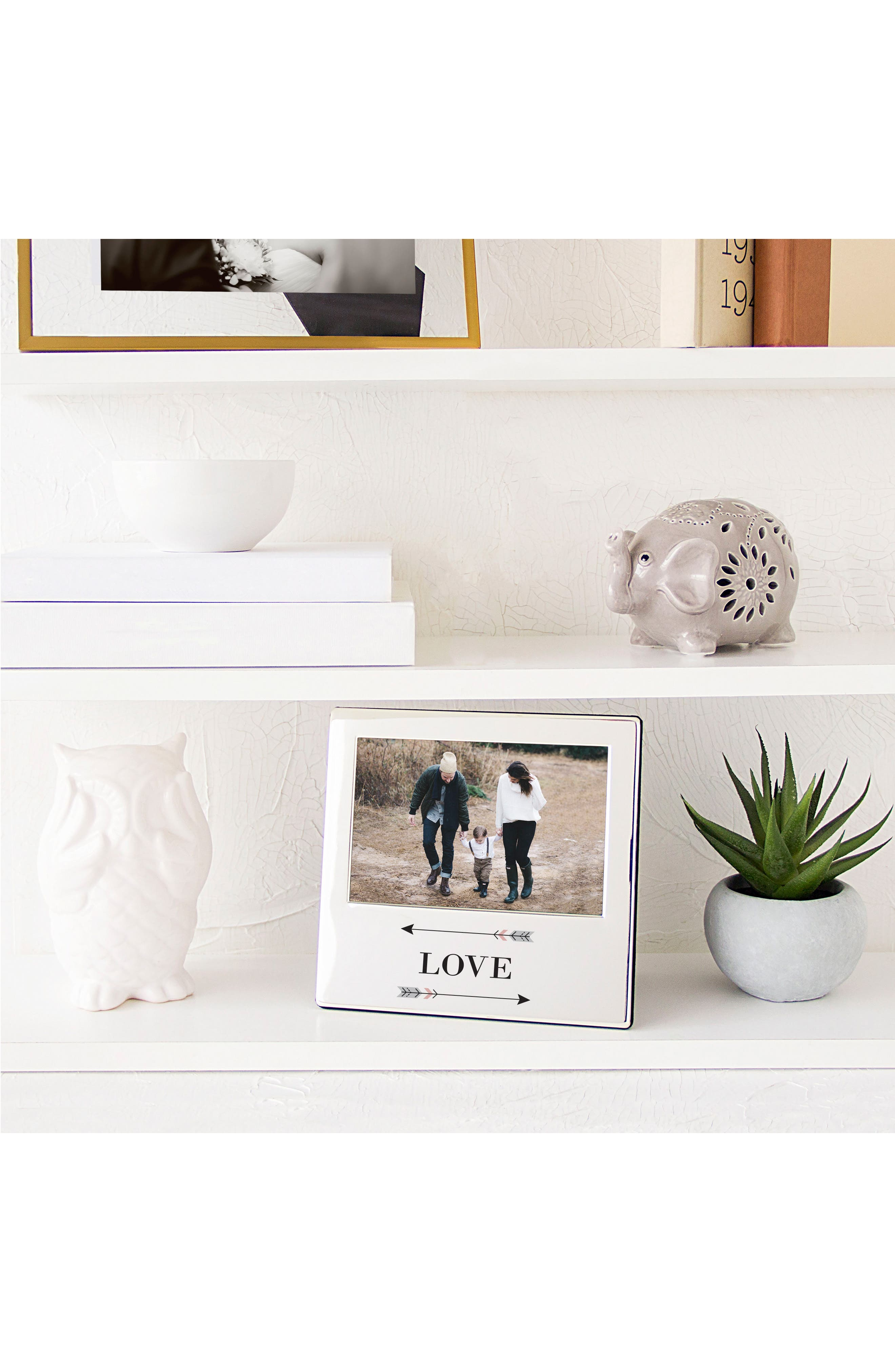 Love Arrows Silver Picture Frame,                             Alternate thumbnail 4, color,                             040