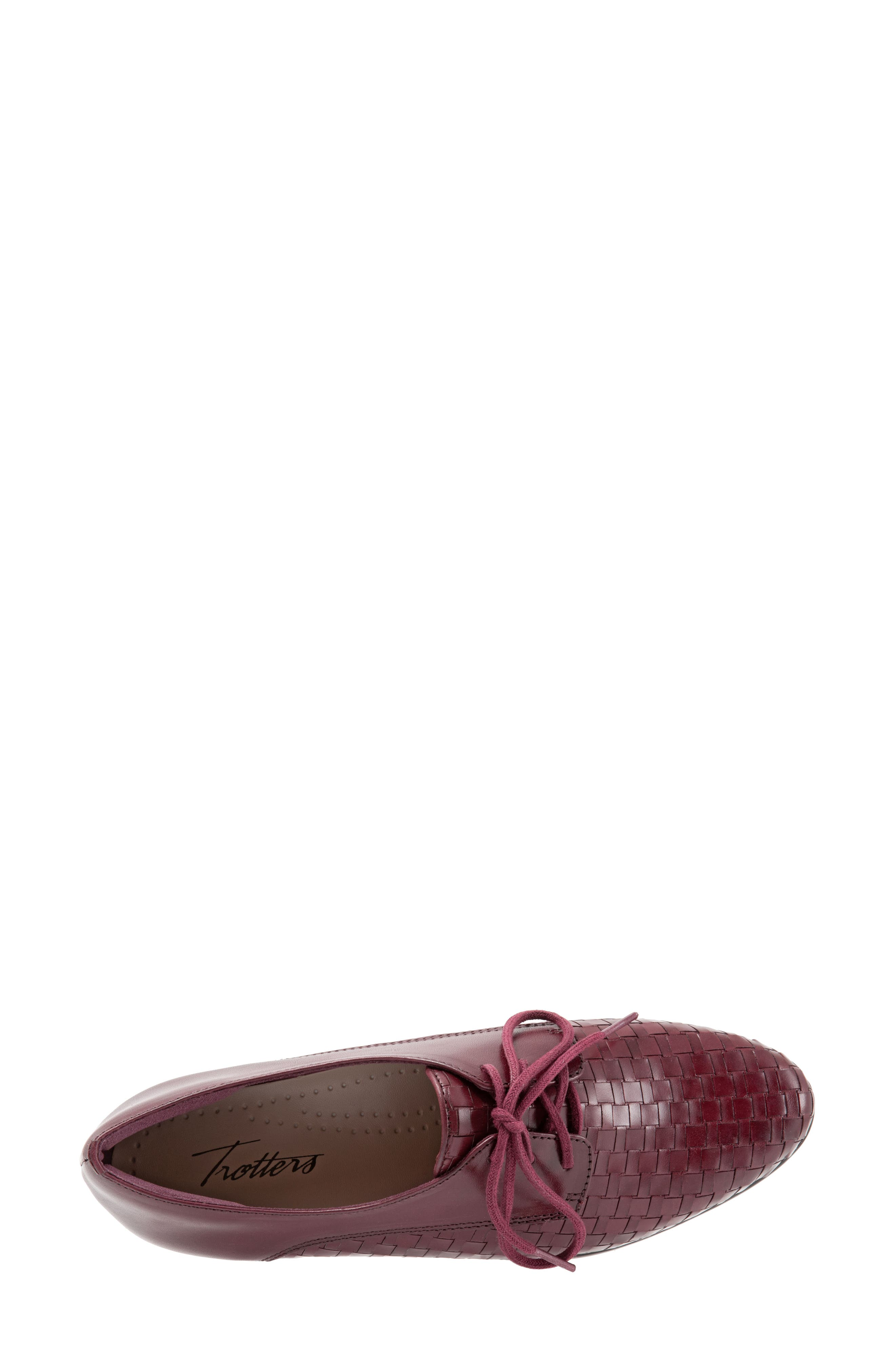 Lizzie Derby Flat,                             Alternate thumbnail 5, color,                             BLACK CHERRY LEATHER