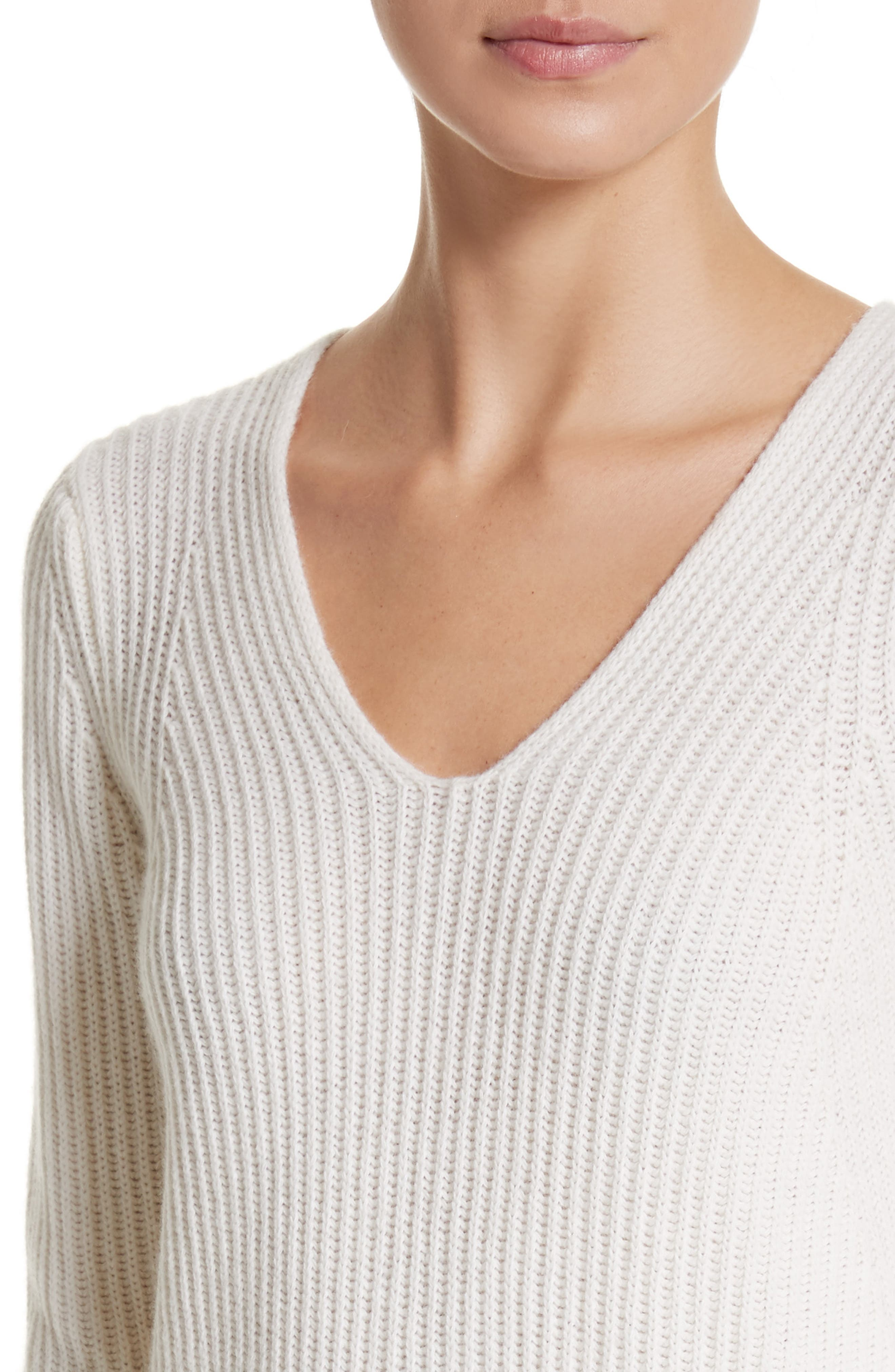 Sax Wool & Cashmere Sweater,                             Alternate thumbnail 4, color,                             900