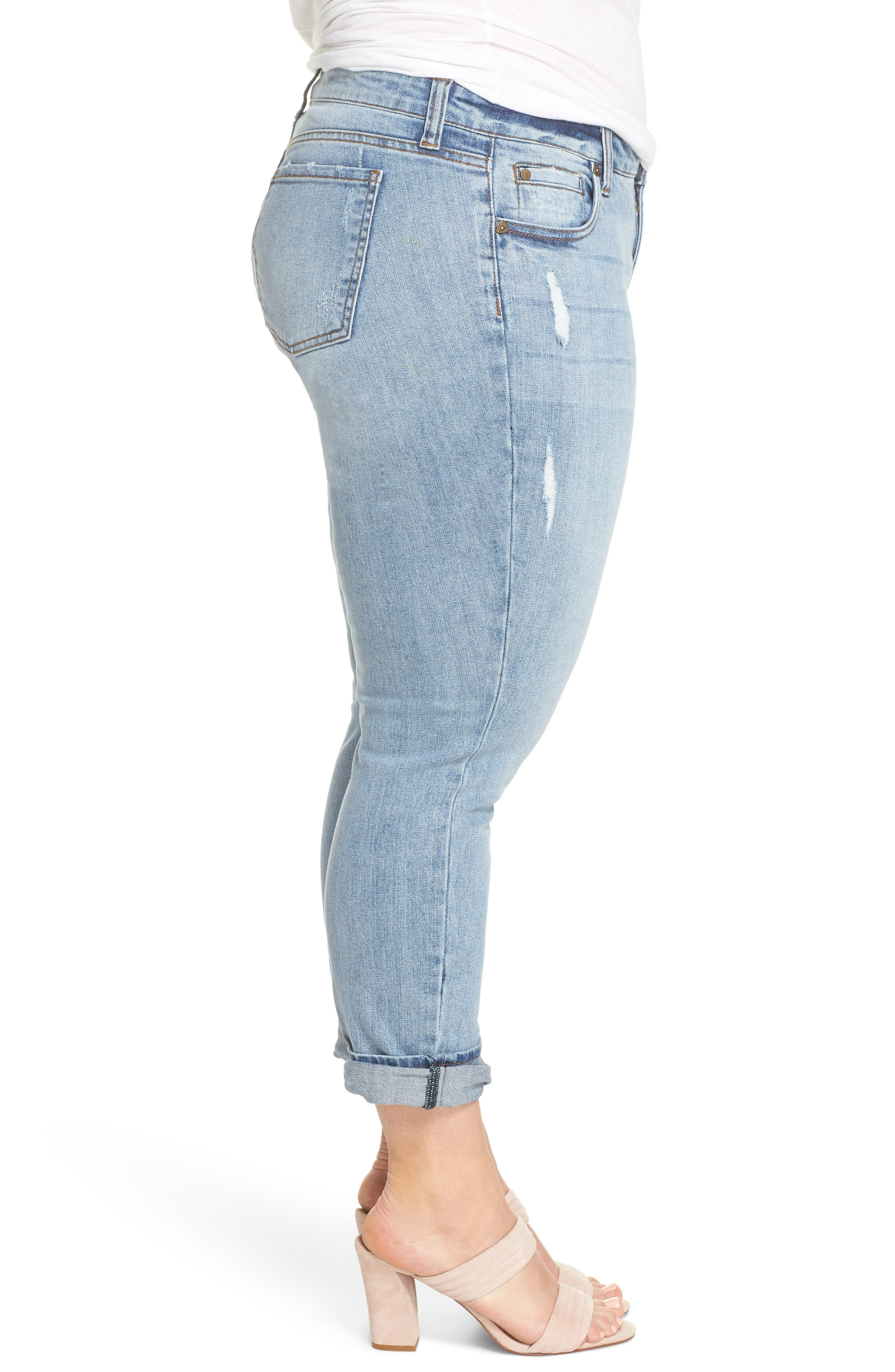 Catherine Distressed Boyfriend Jeans,                             Alternate thumbnail 3, color,                             ANNOUNCE