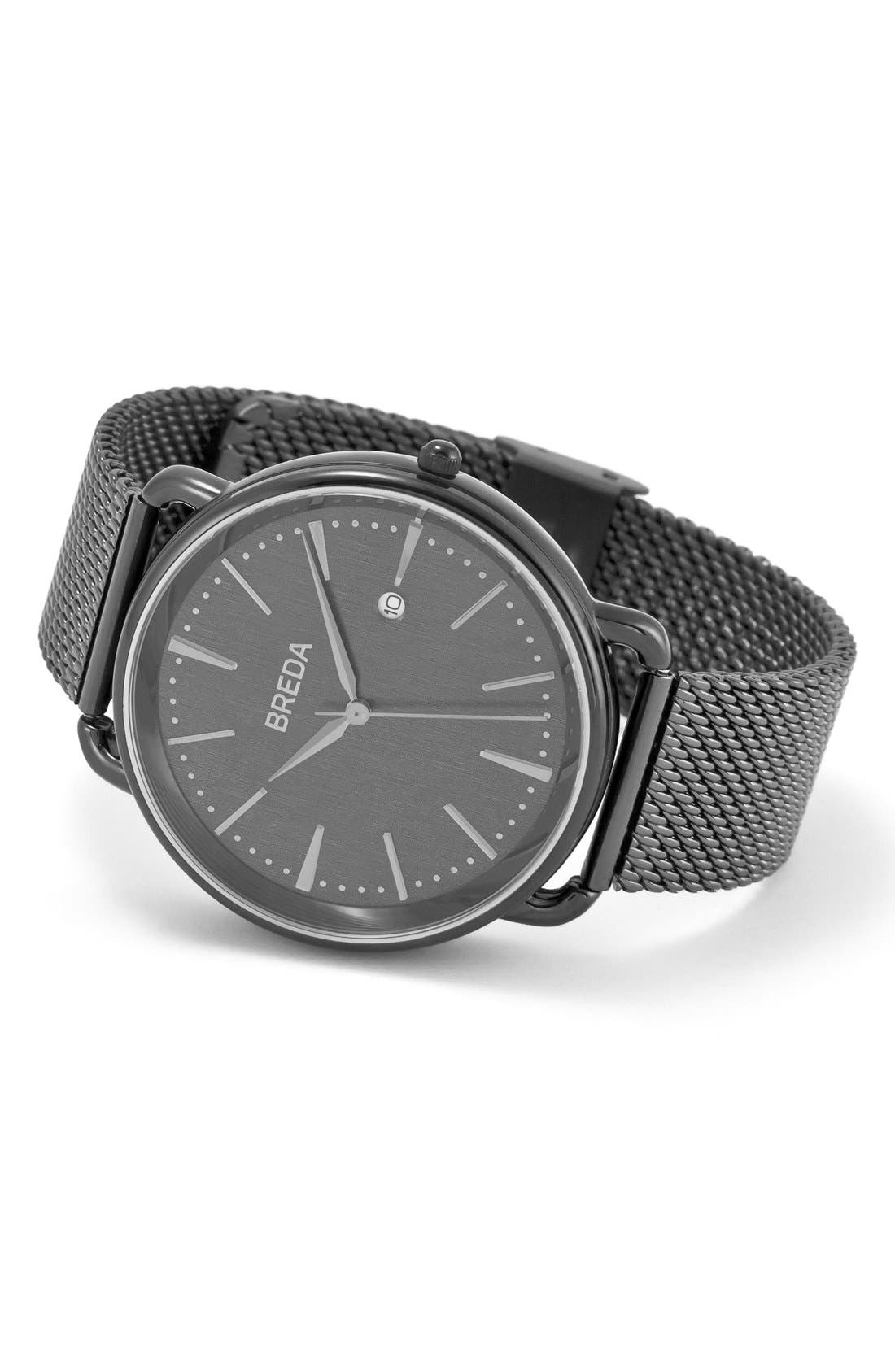 Linx Round Mesh Strap Watch, 42mm,                             Alternate thumbnail 2, color,                             030