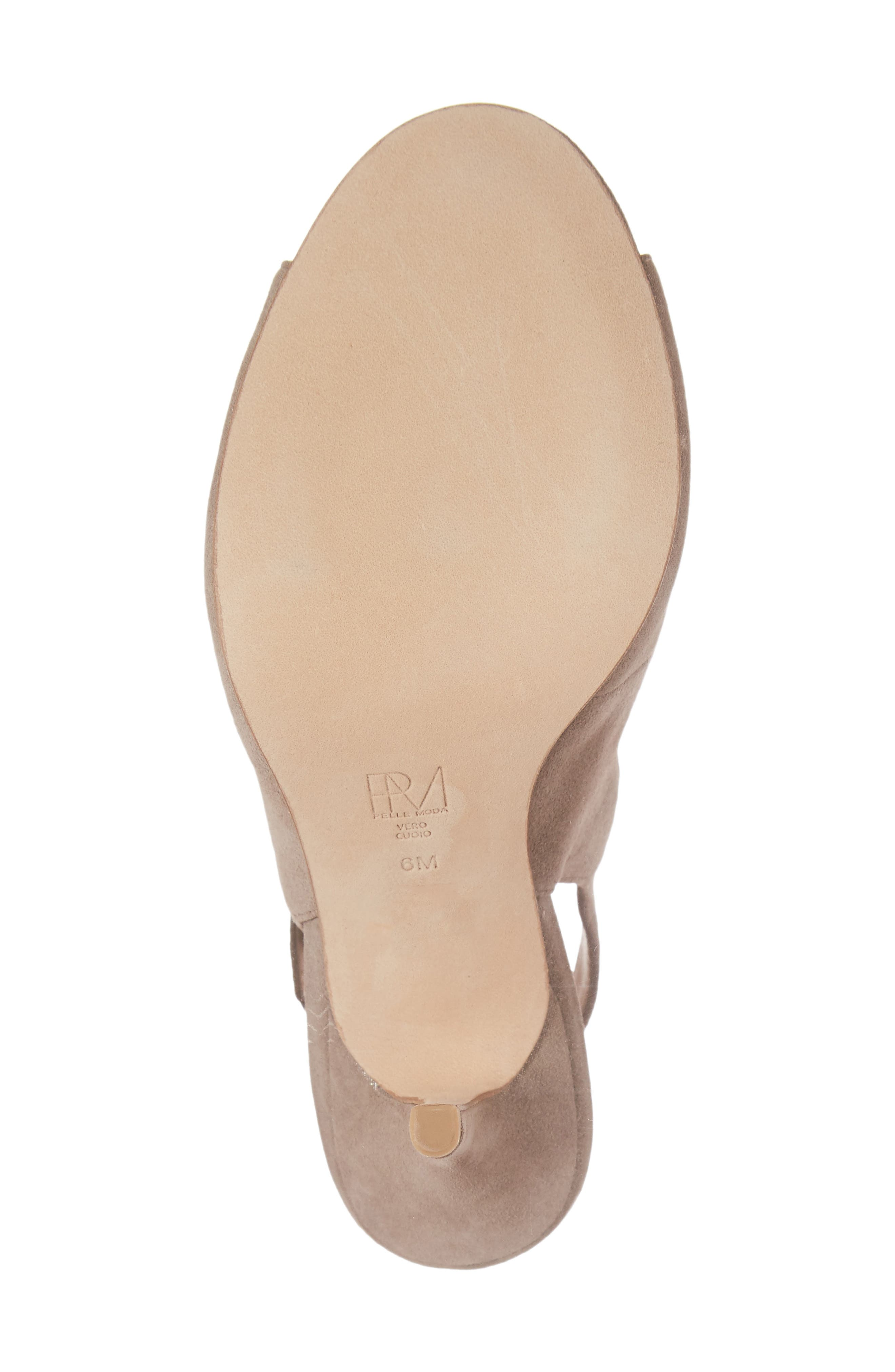 Kinsey Sandal,                             Alternate thumbnail 6, color,                             TAUPE LEATHER