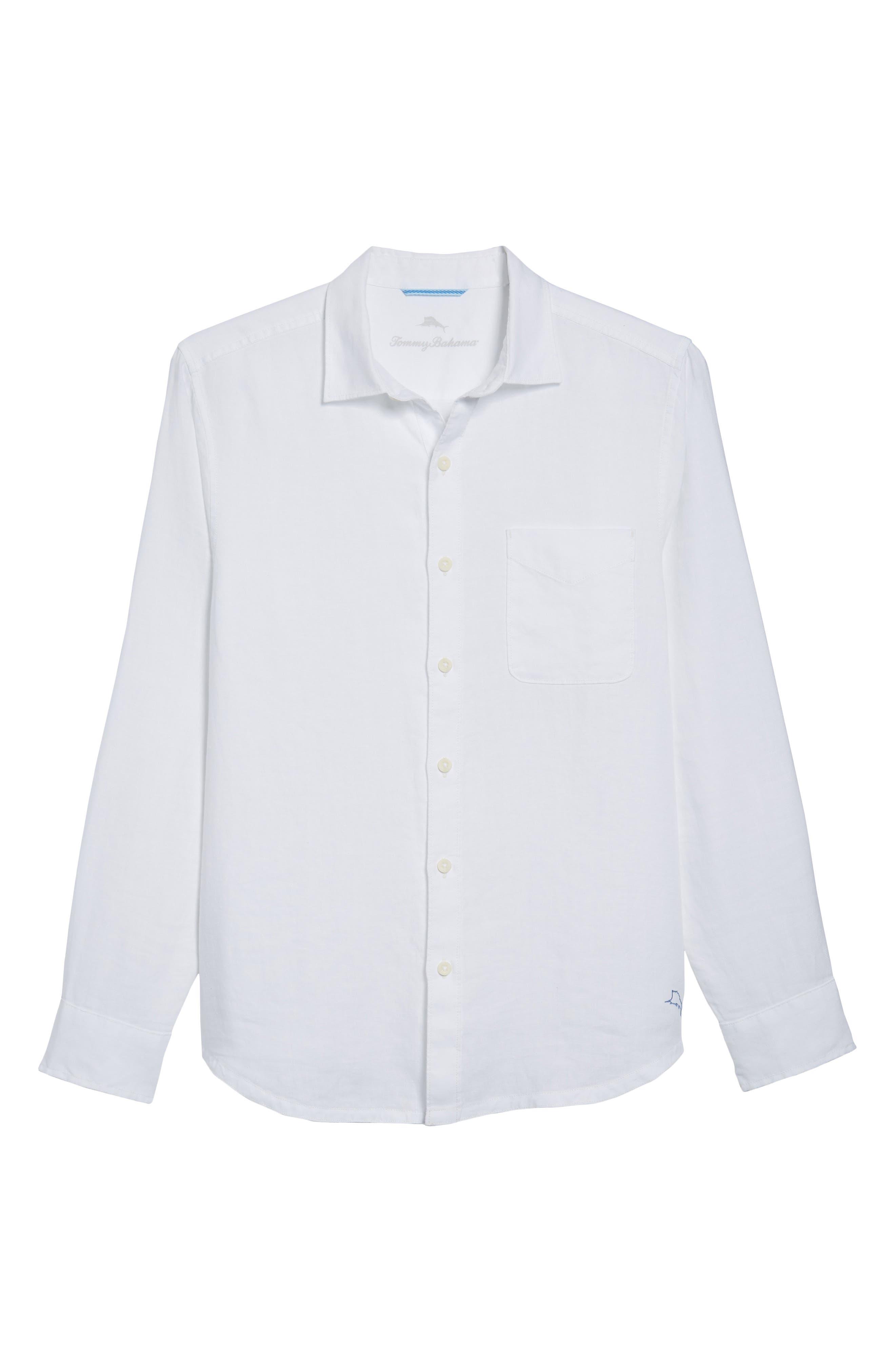 Seaspray Breezer Linen Shirt,                             Alternate thumbnail 21, color,