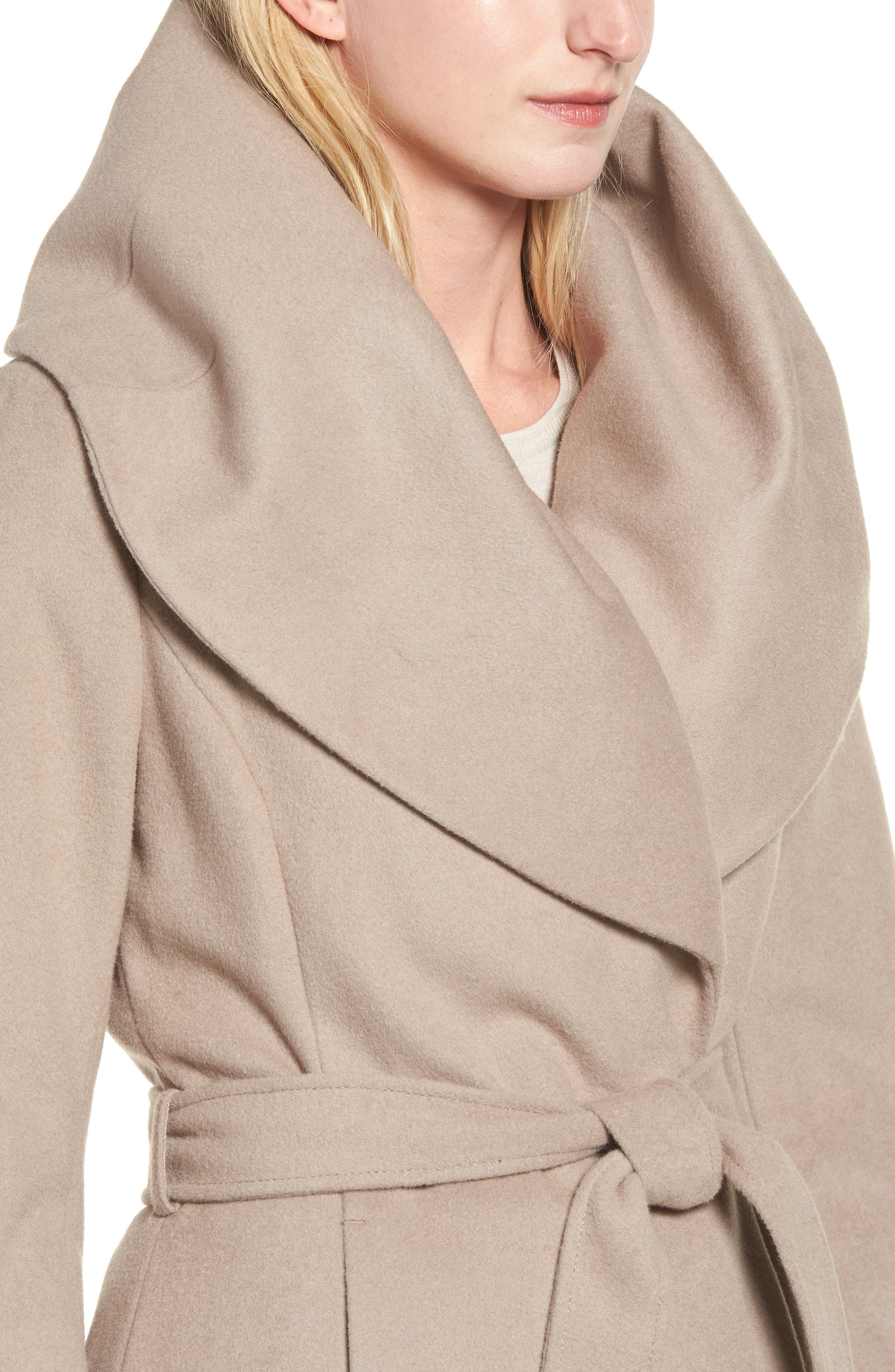 T Tahari Wool Blend Belted Wrap Coat,                             Alternate thumbnail 33, color,