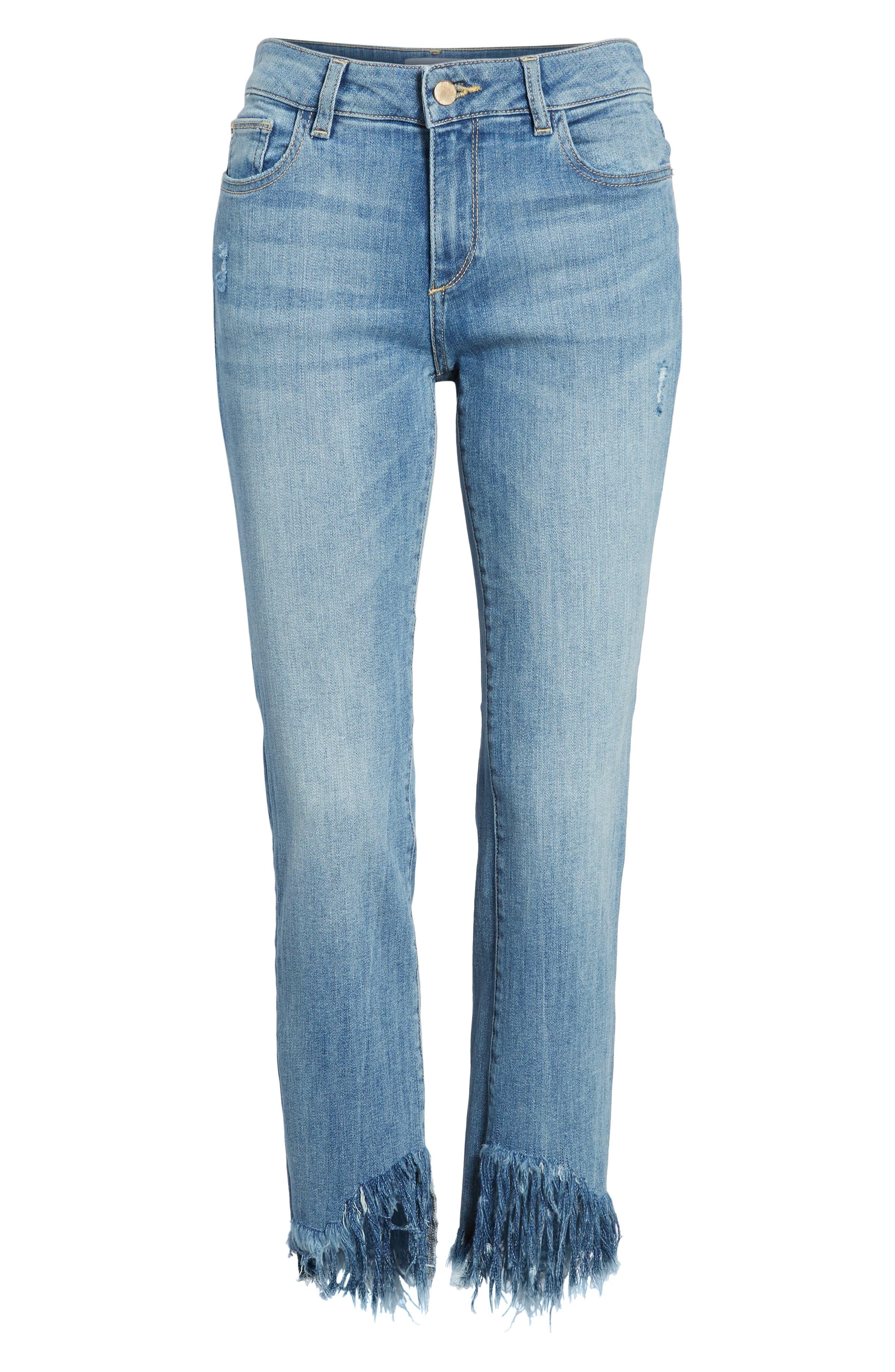 Mara Instasculpt Ankle Straight Leg Jeans,                             Alternate thumbnail 7, color,                             UPSTATE
