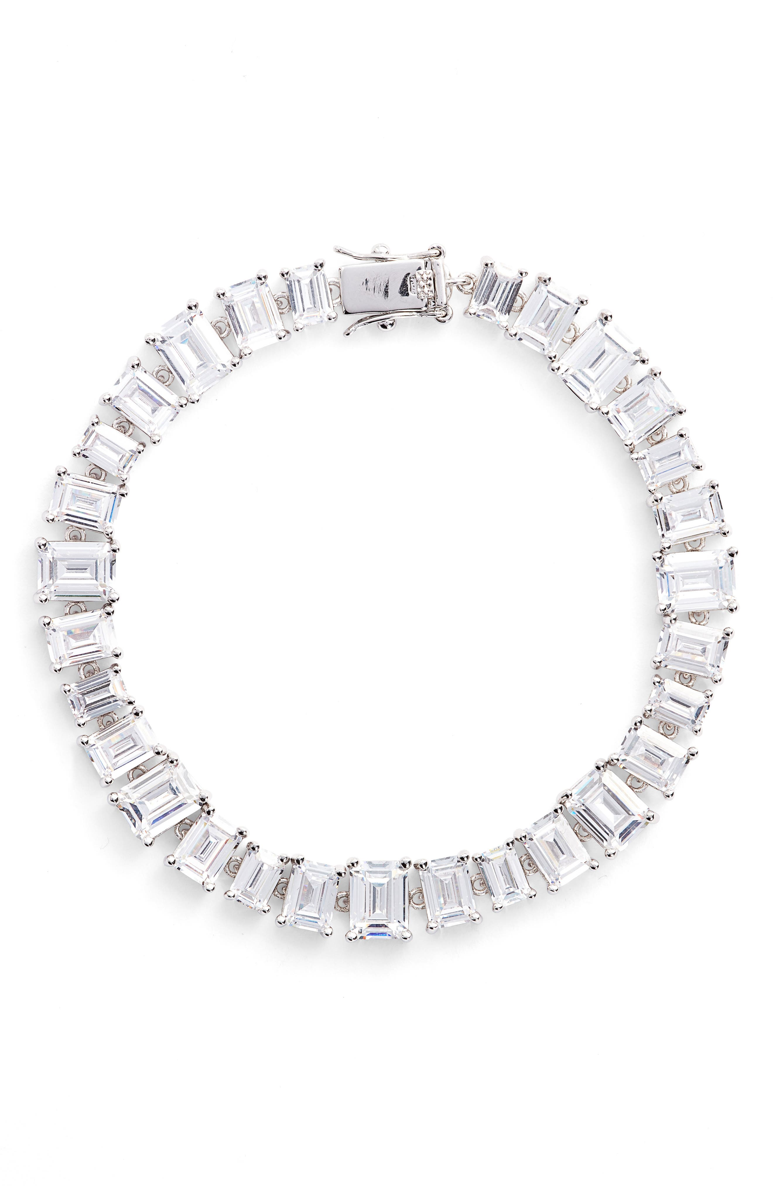 Cubic Zirconia Tennis Bracelet,                             Main thumbnail 2, color,
