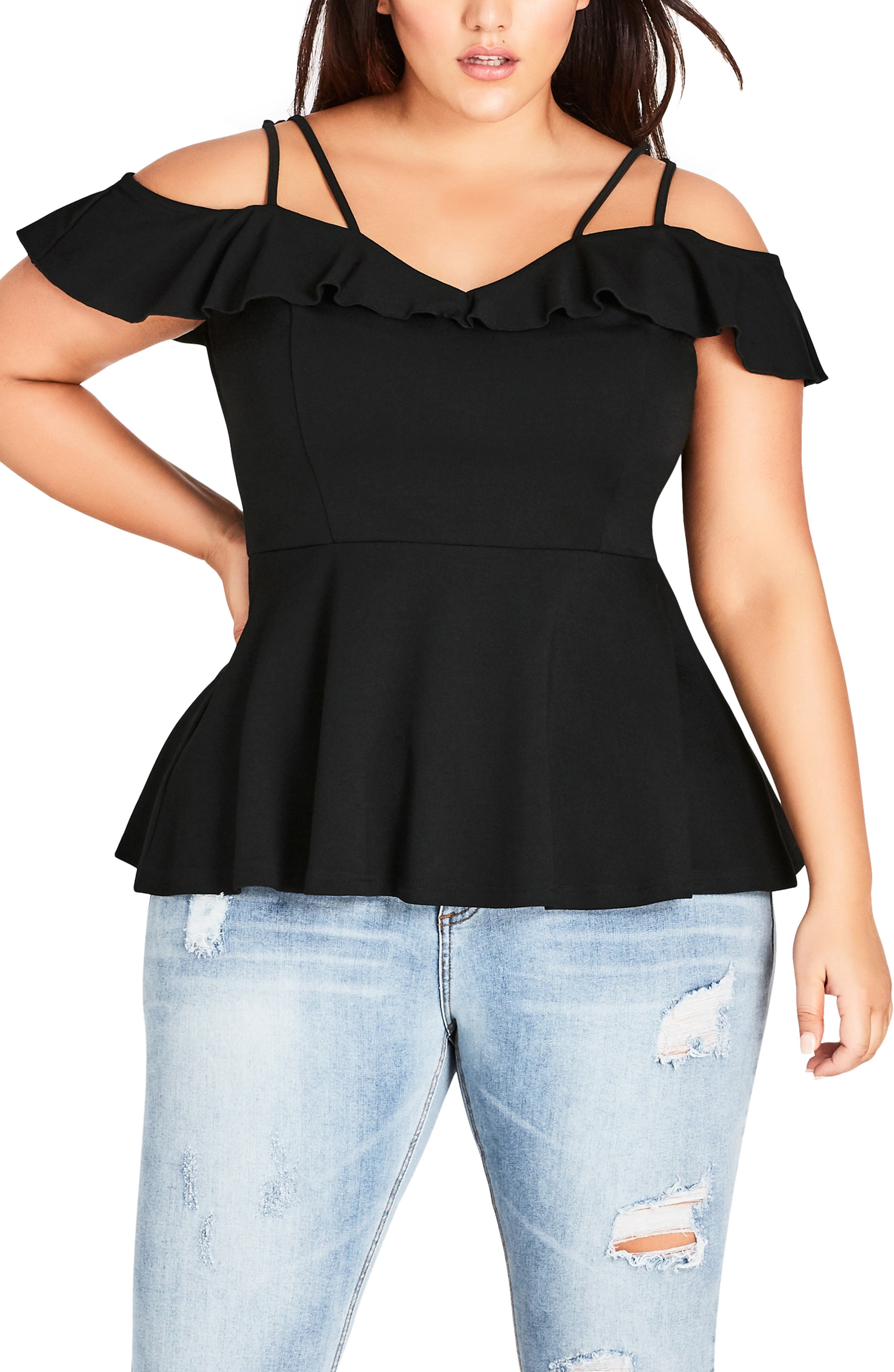 London Lover Top,                         Main,                         color, BLACK