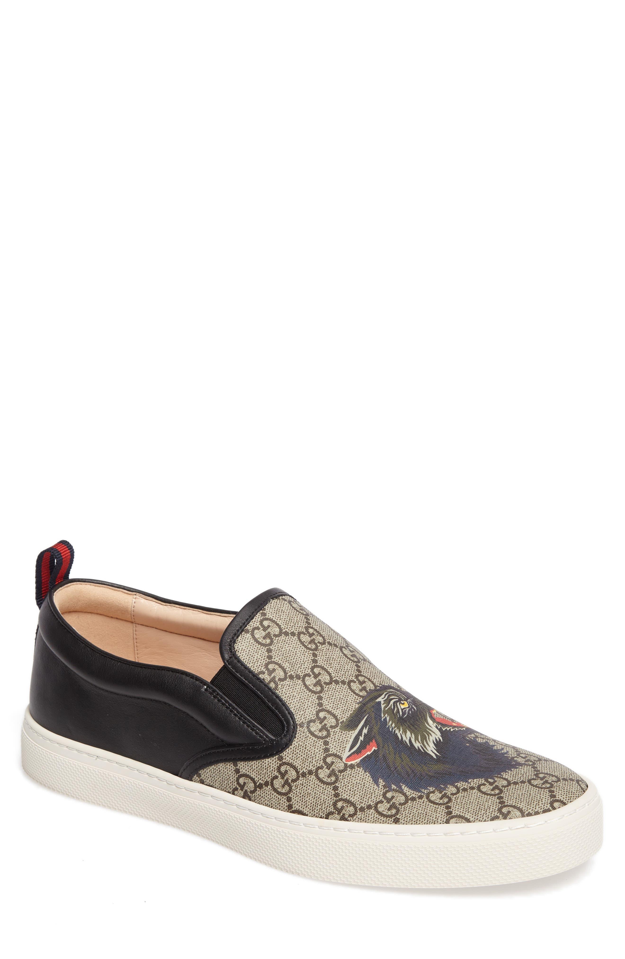 Wolf GG Supreme Slip-On Sneaker,                             Main thumbnail 1, color,                             BEIGE/ EBONY
