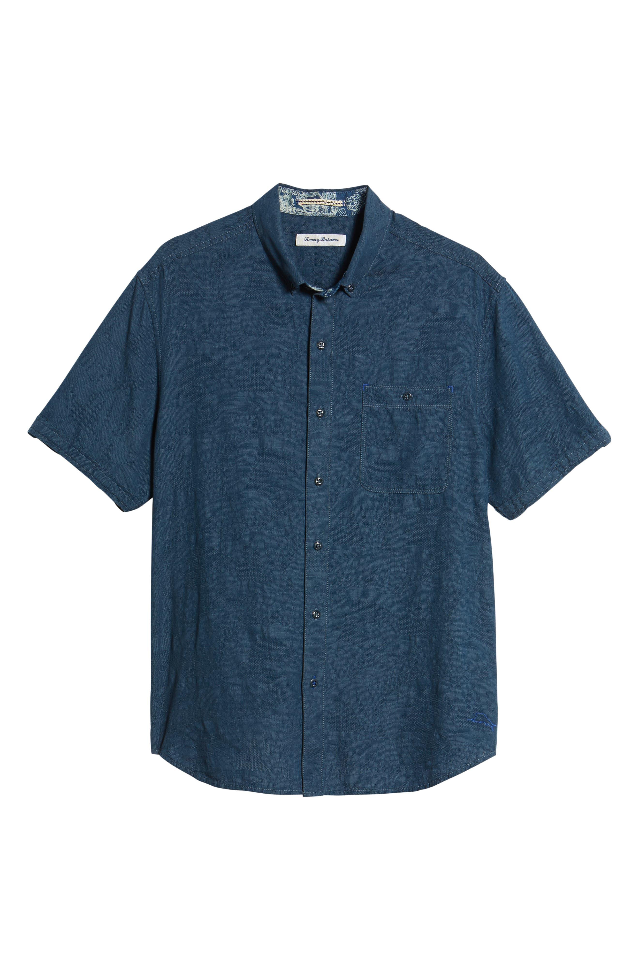 Desert Fronds Sport Shirt,                             Alternate thumbnail 6, color,                             402
