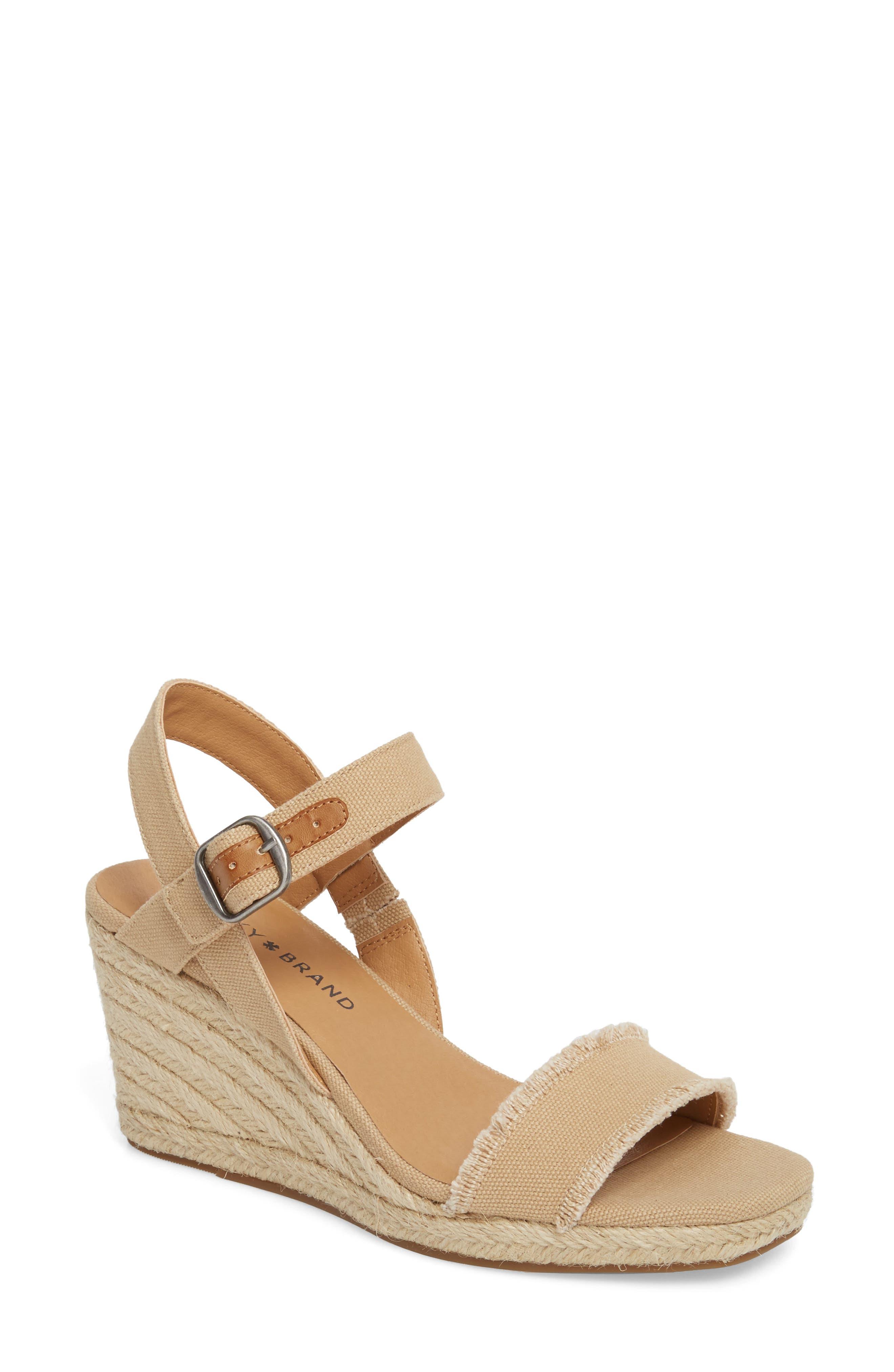 Marceline Squared Toe Wedge Sandal,                             Main thumbnail 3, color,