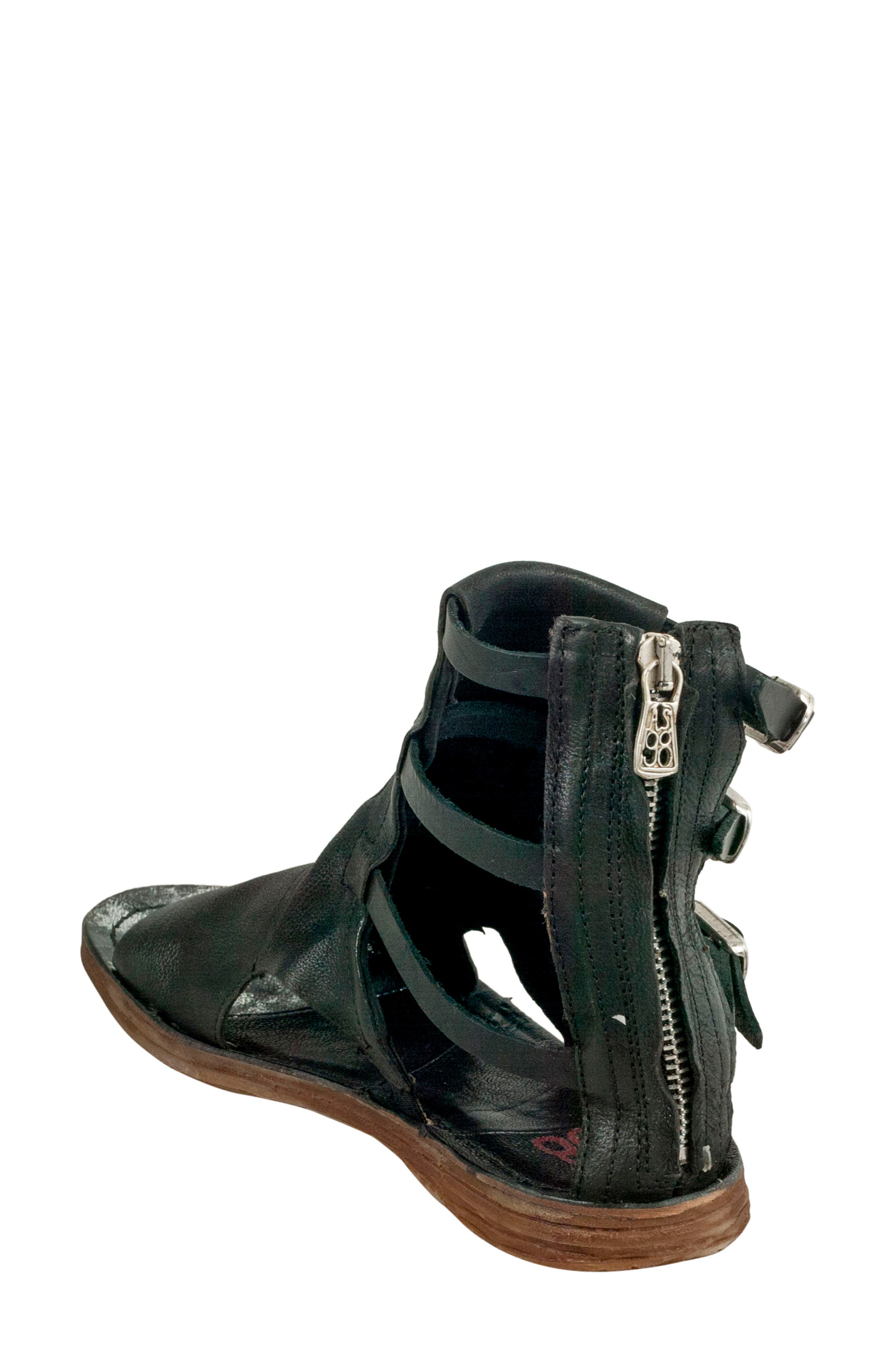 Ryde Sandal,                             Alternate thumbnail 2, color,                             BLACK LEATHER