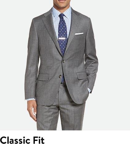 Men's suit jacket correct fit