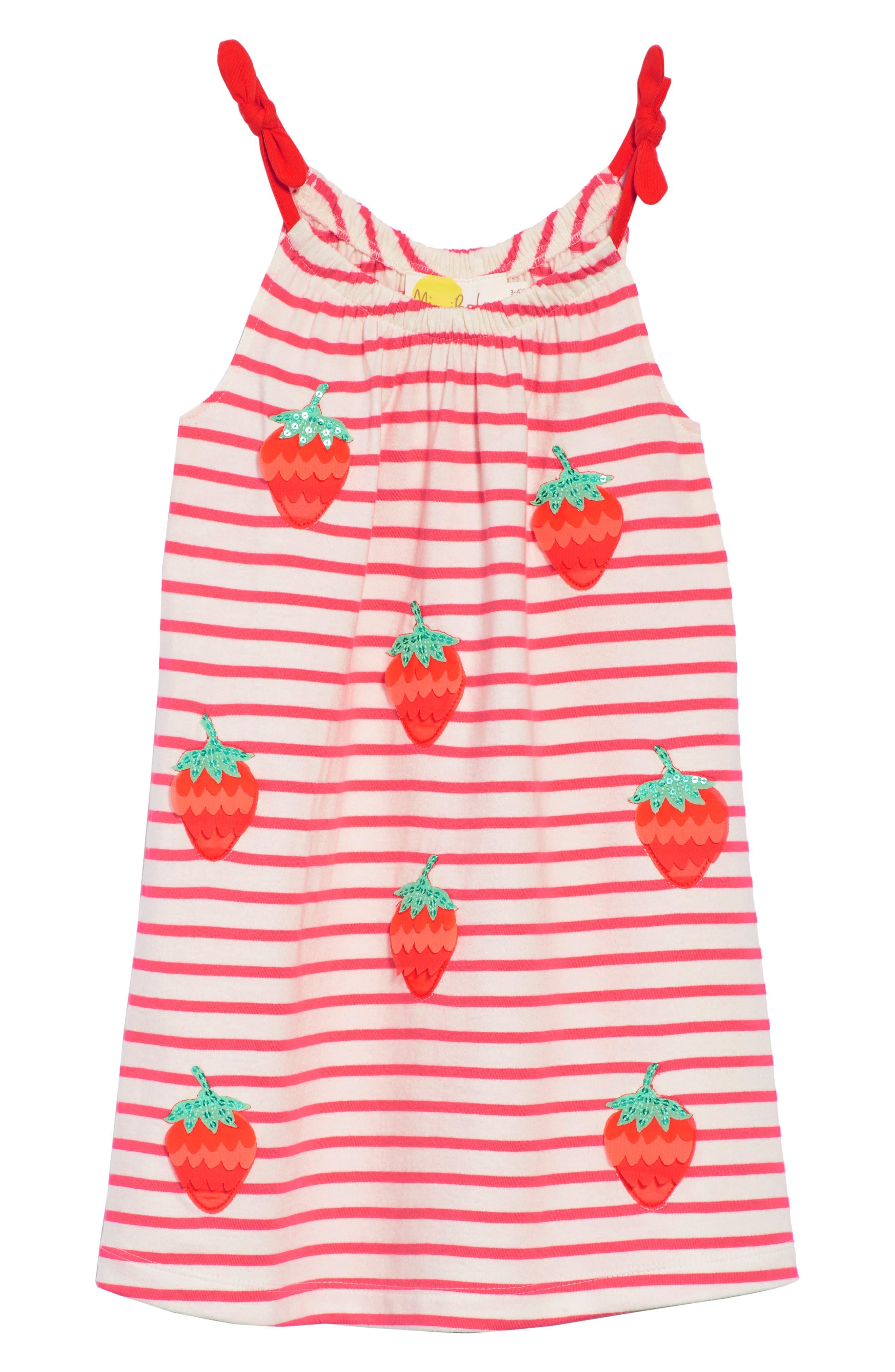 Strawberry Stripe Sundress,                             Main thumbnail 1, color,                             664