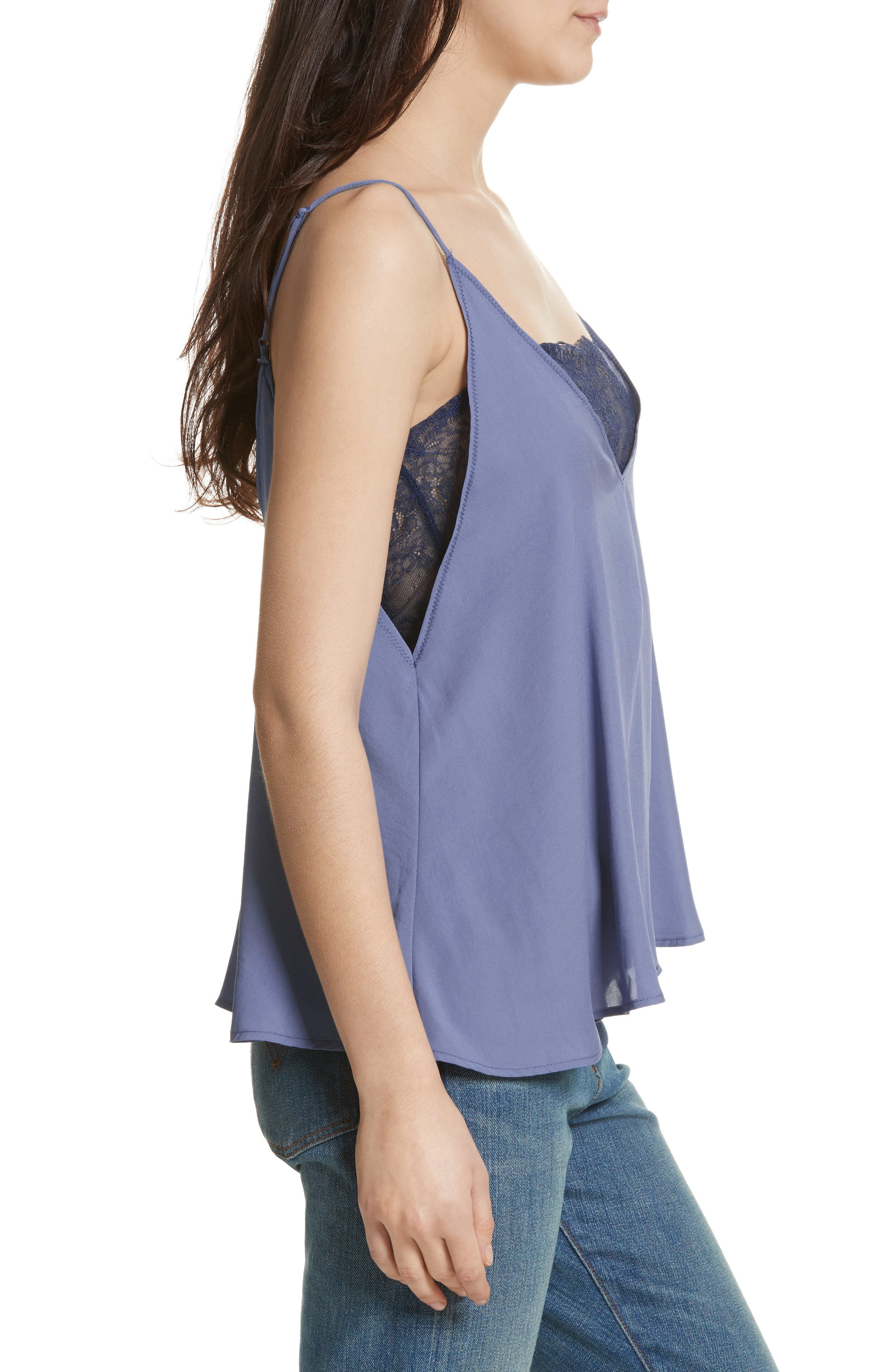 Lace Inset Camisole,                             Alternate thumbnail 3, color,                             455