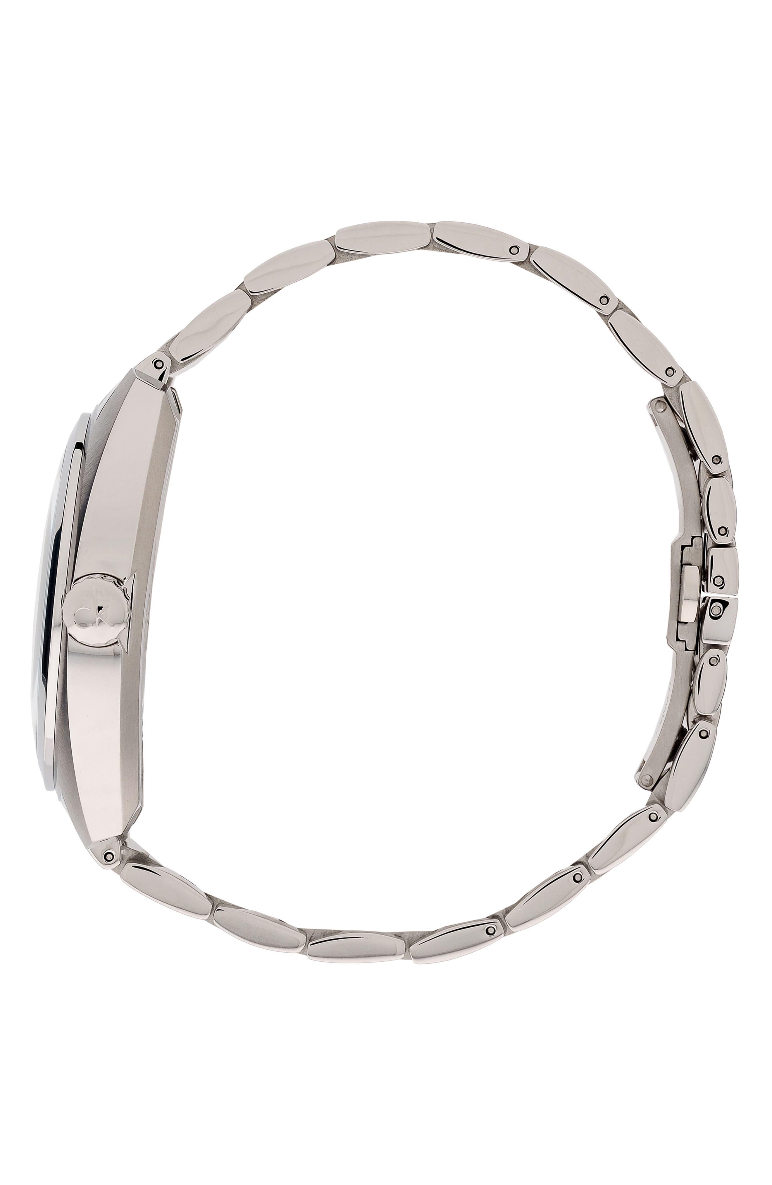 Achieve Bracelet Watch, 43mm,                             Alternate thumbnail 3, color,                             SILVER/ BLUE/ SILVER